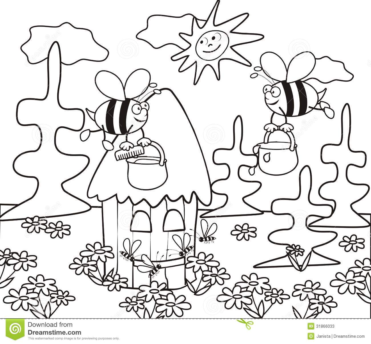 hive coloring book - Coloring Book For Children