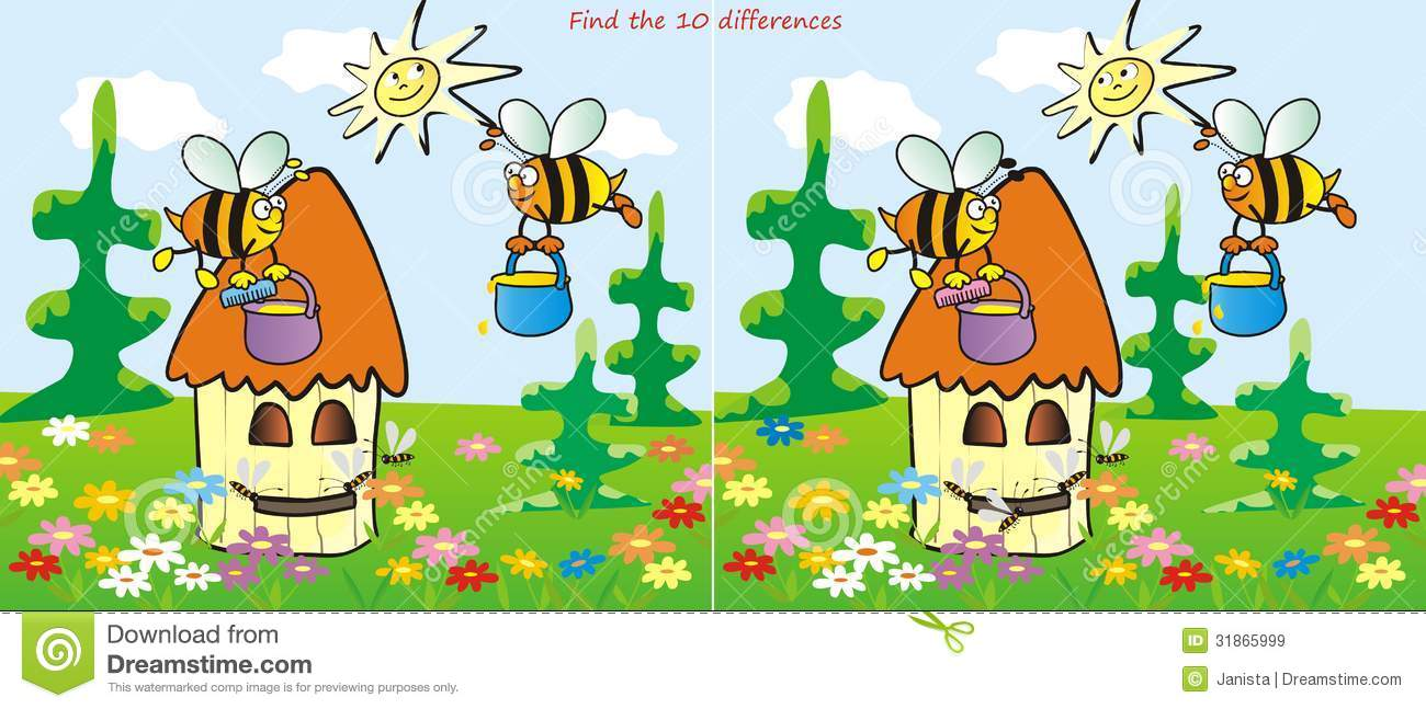 Royalty free stock images hive find 10 differences