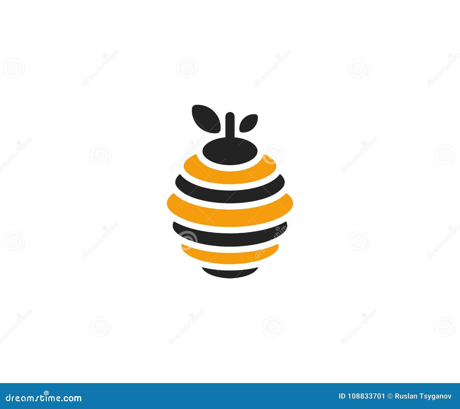 Hive Logo Template Beehive Vector Design