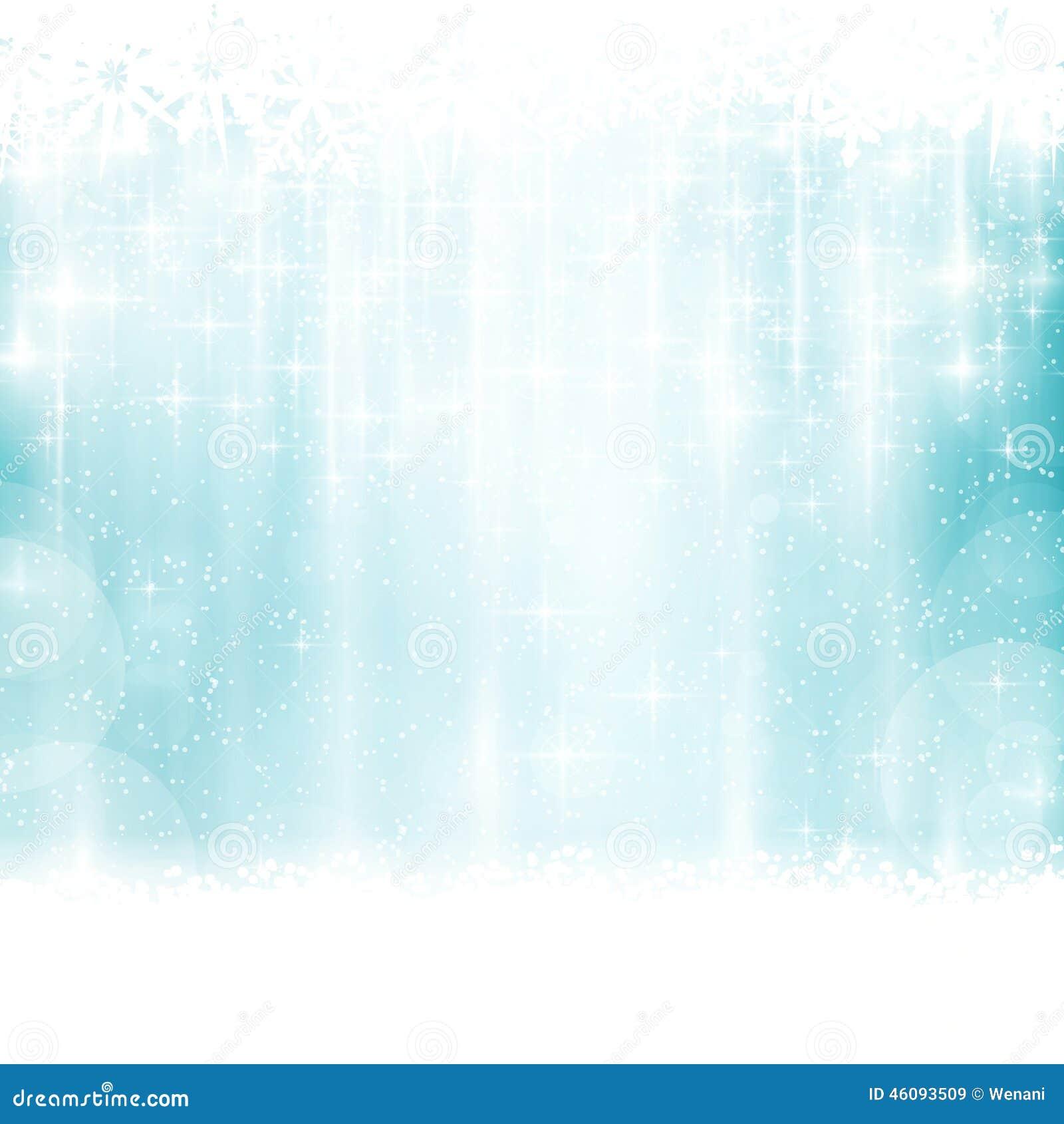 Hiver bleu, fond de Noël avec des effets de la lumière