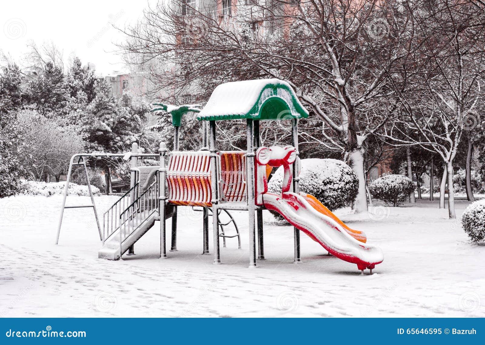 Hiver en parc de ville
