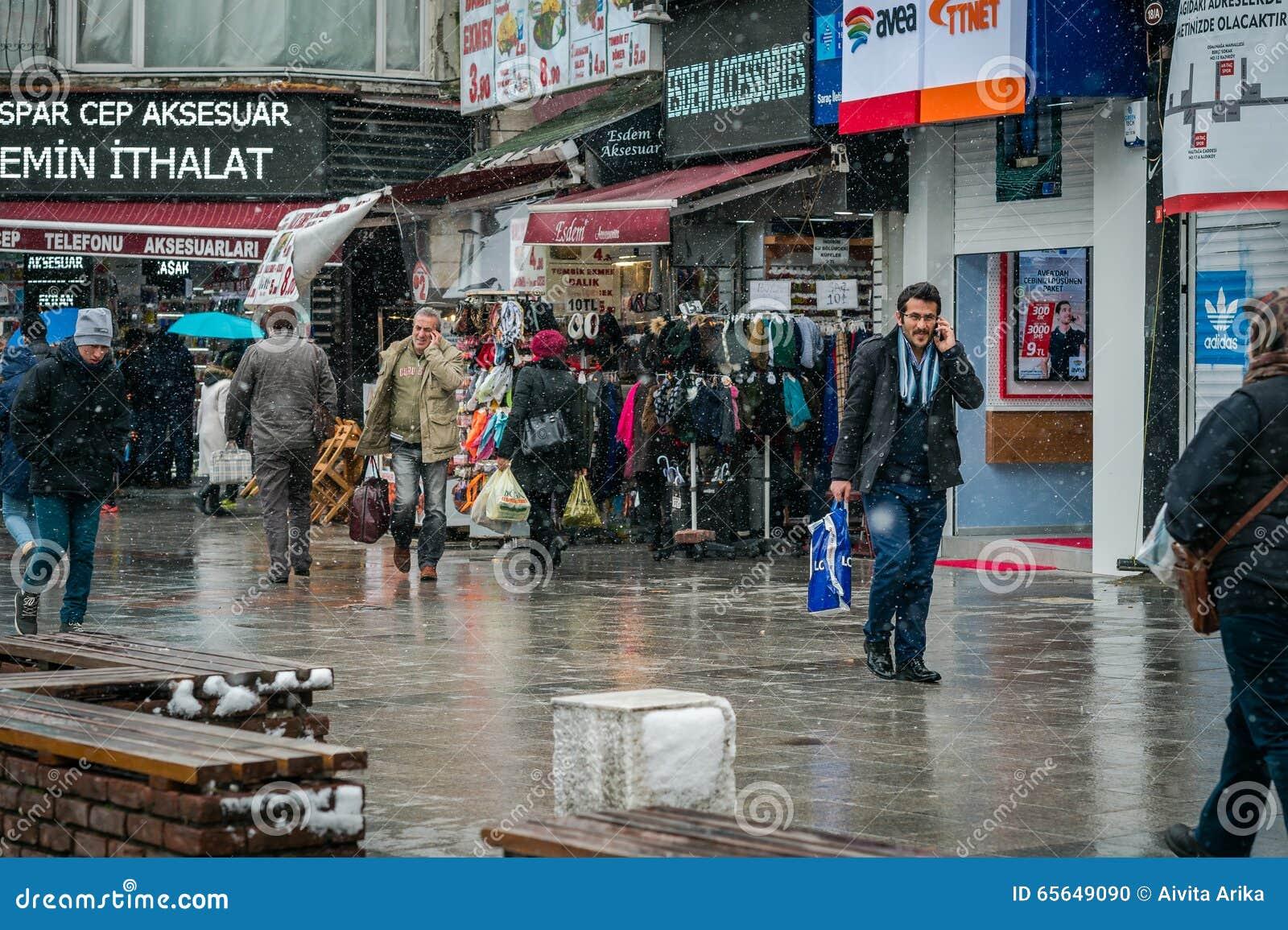 Hiver et neige à Istanbul