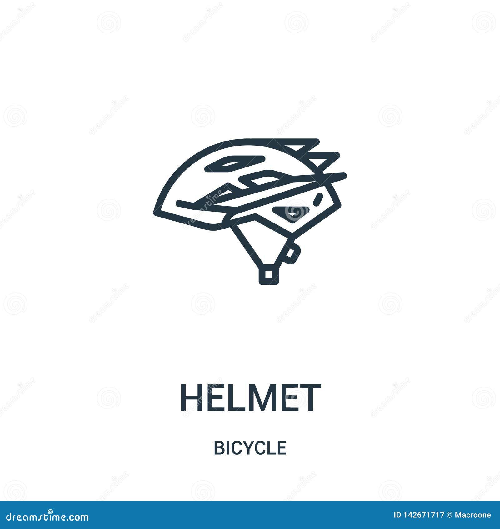 Hjälmsymbolsvektor från cykelsamling Tunn linje illustration för vektor för hjälmöversiktssymbol Linjärt symbol för bruk på rengö