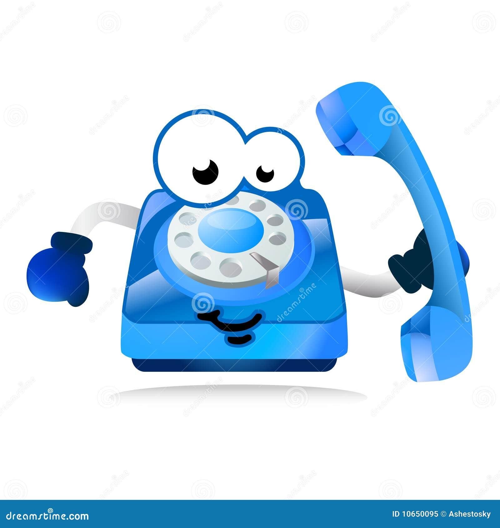 Hjälplinje maskottelefon