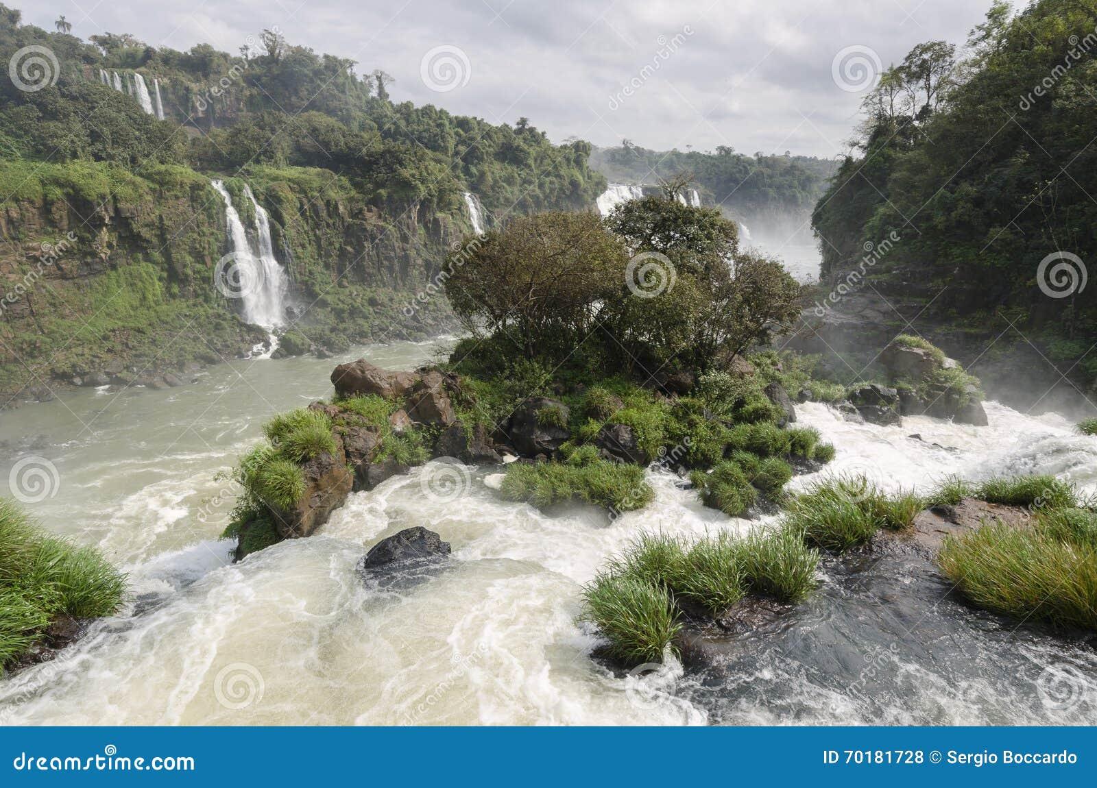 Hjälpmedel för vattenfallet Iguacuwalls
