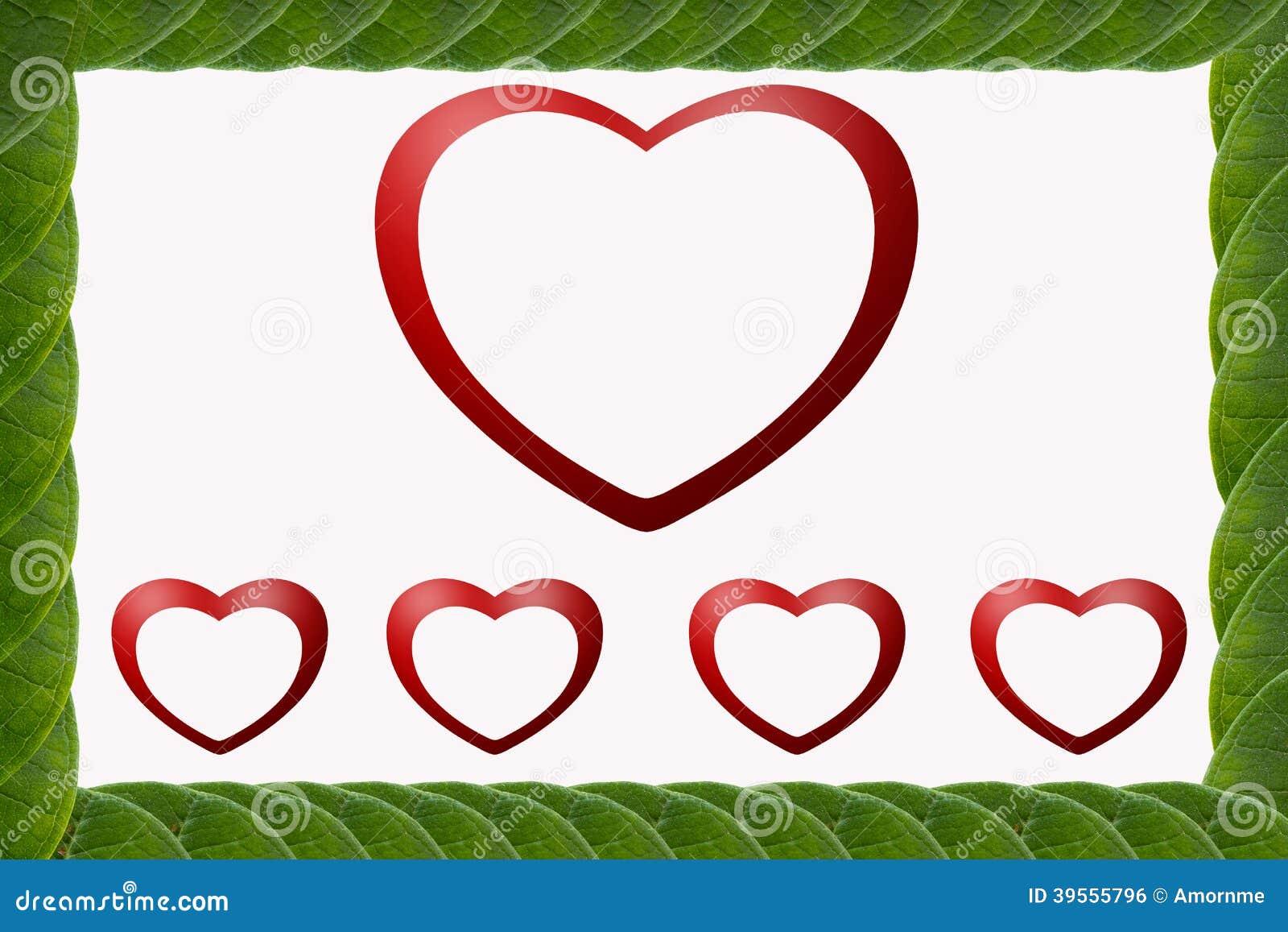 Hjärta-formad ram för gräsplan sidor