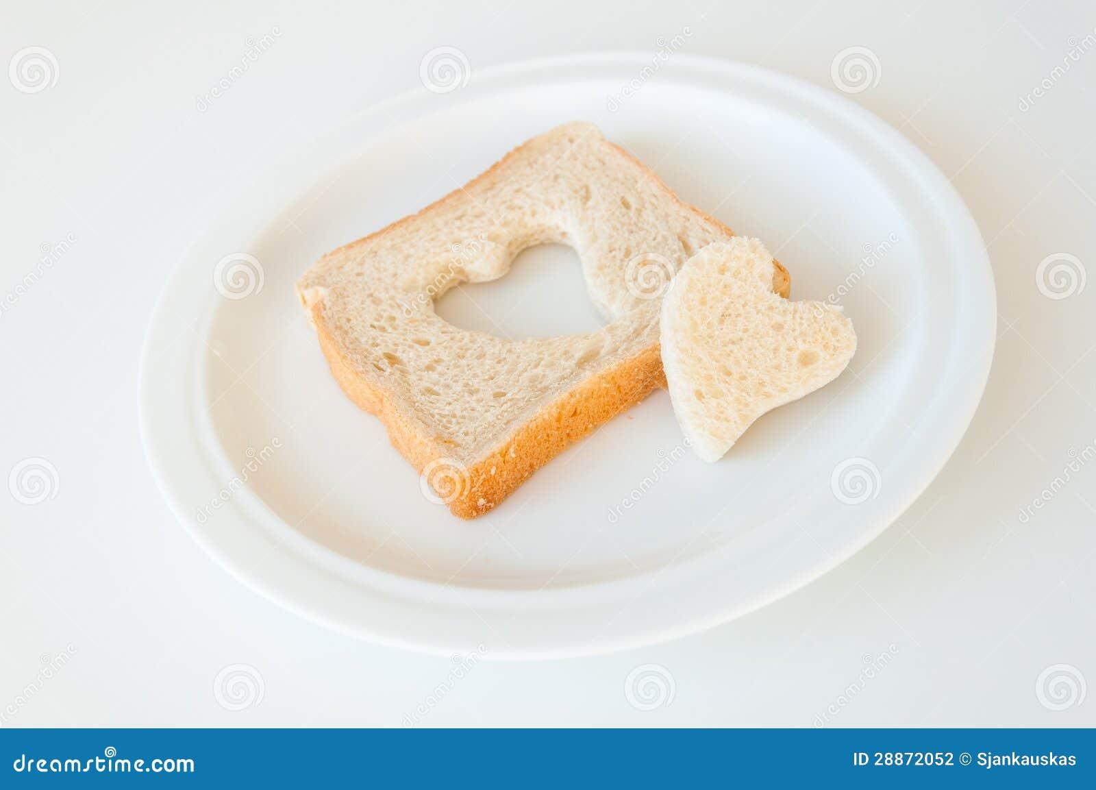 Hjärta format bröd