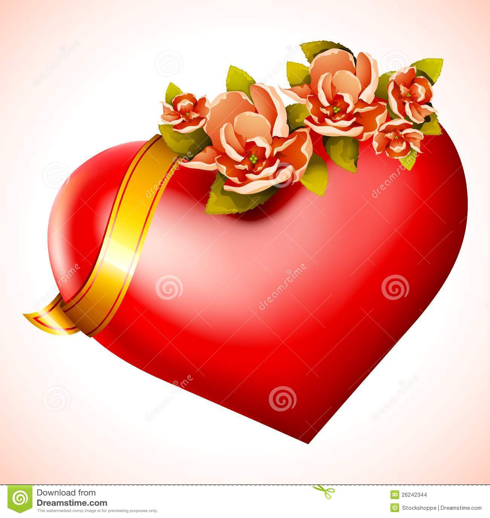 Hjärta med blomman