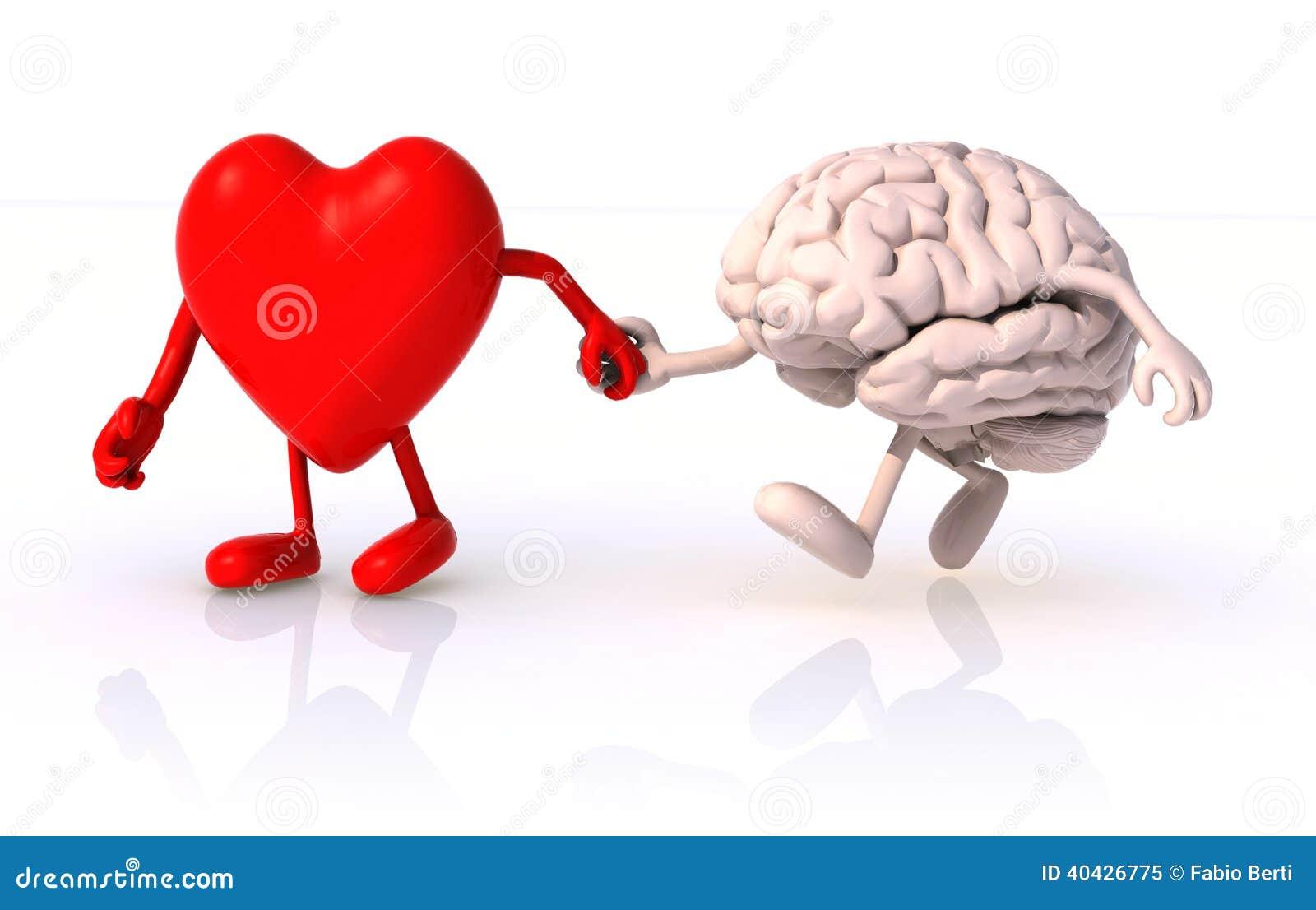 Hjärta och hjärnhand - in - hand