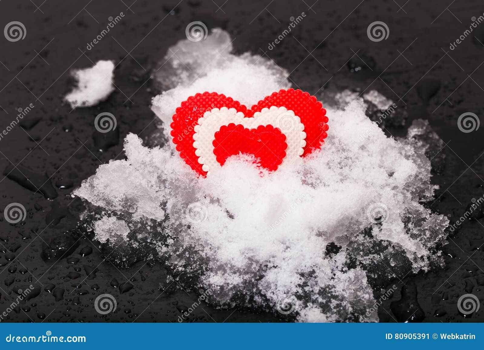 Hjärta på snow