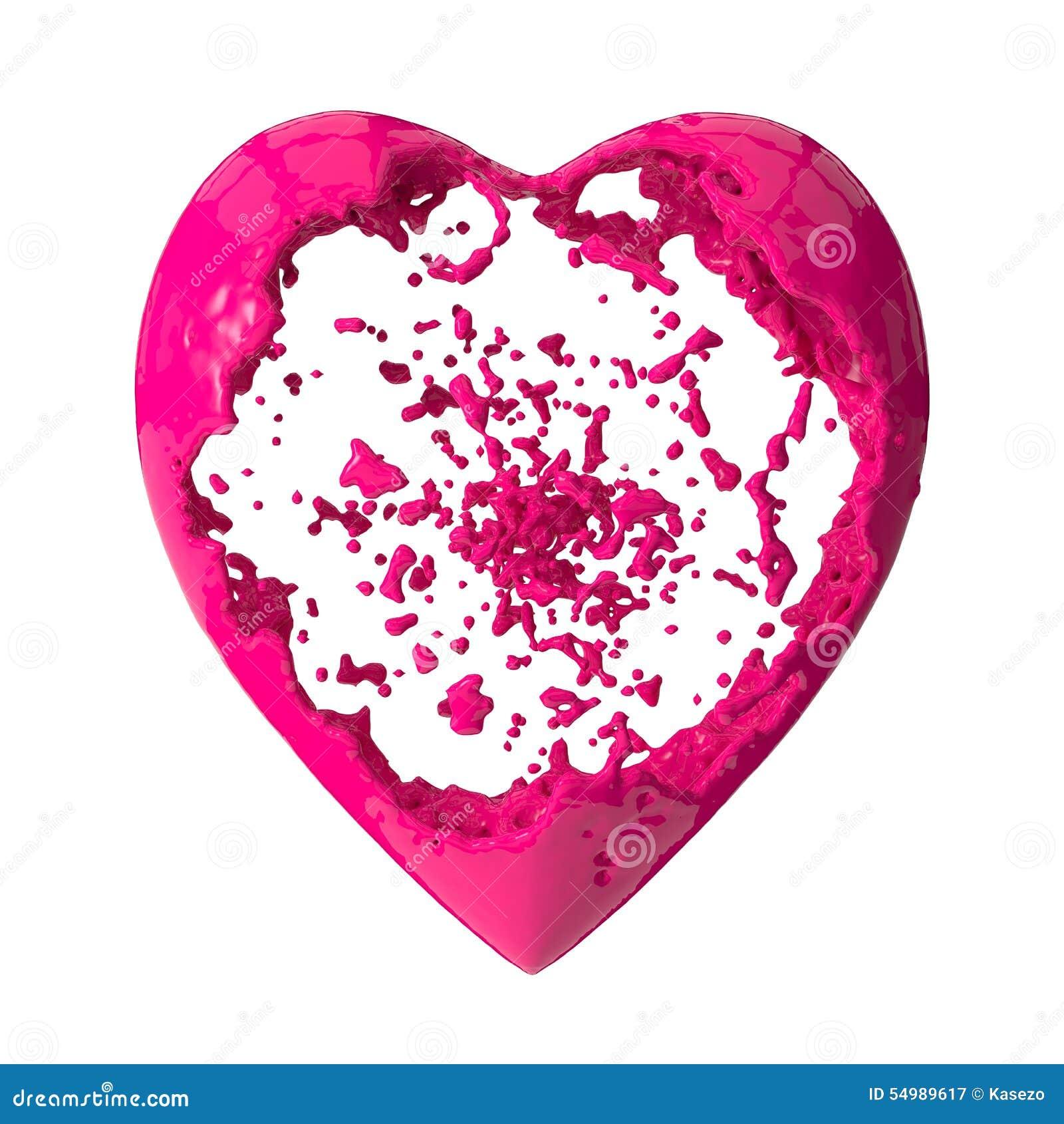 Hjärta som formar den fluid explosionen