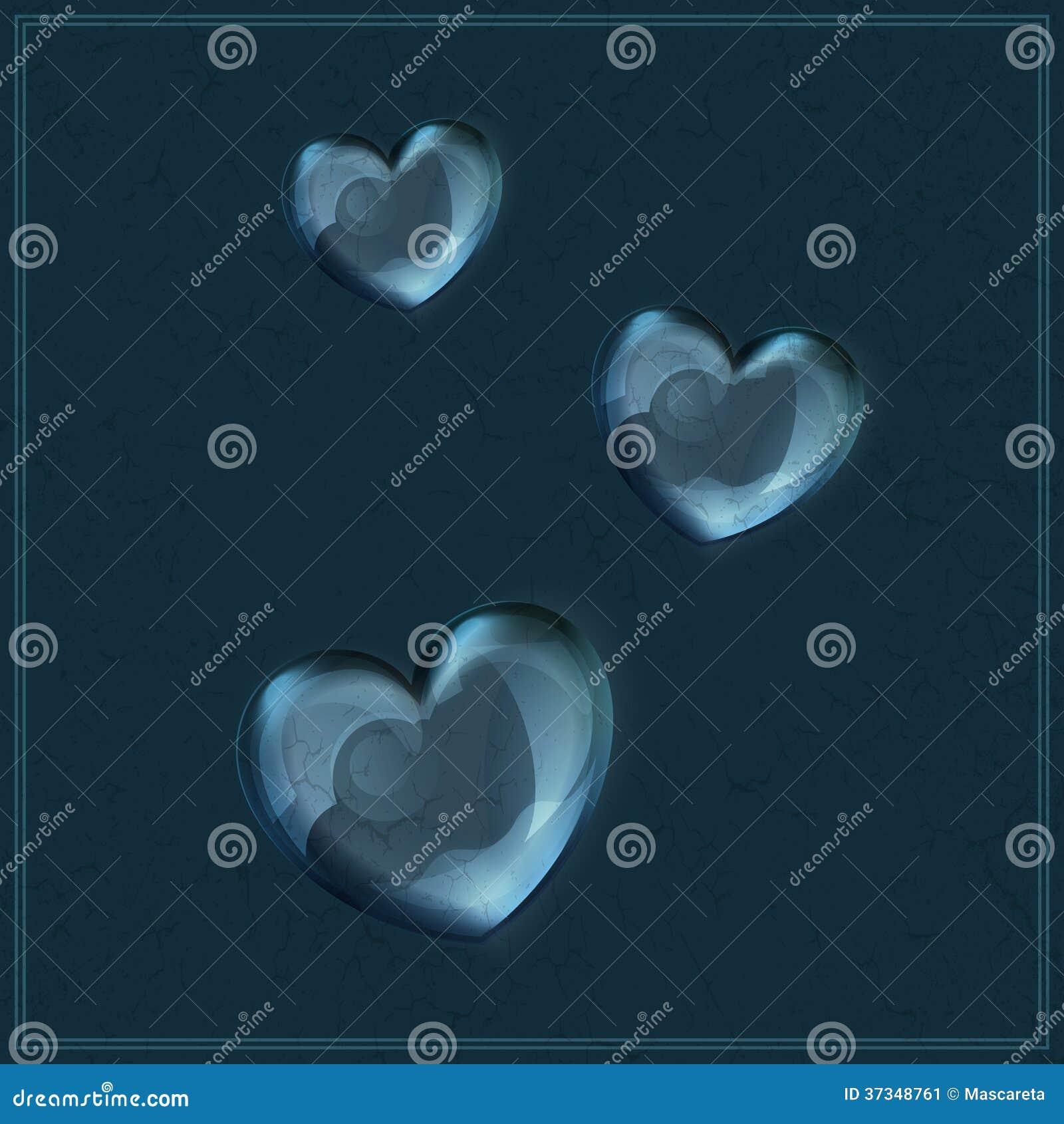 Hjärta som göras av exponeringsglas på grungebakgrund