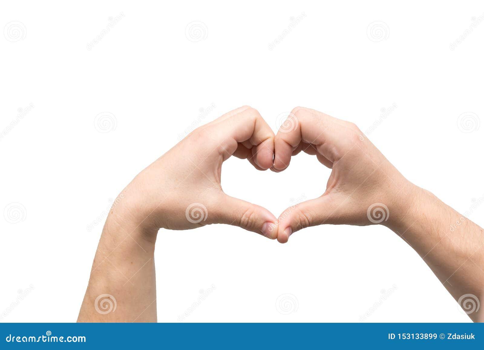 Hjärtaform gjorde av två gömma i handflatan