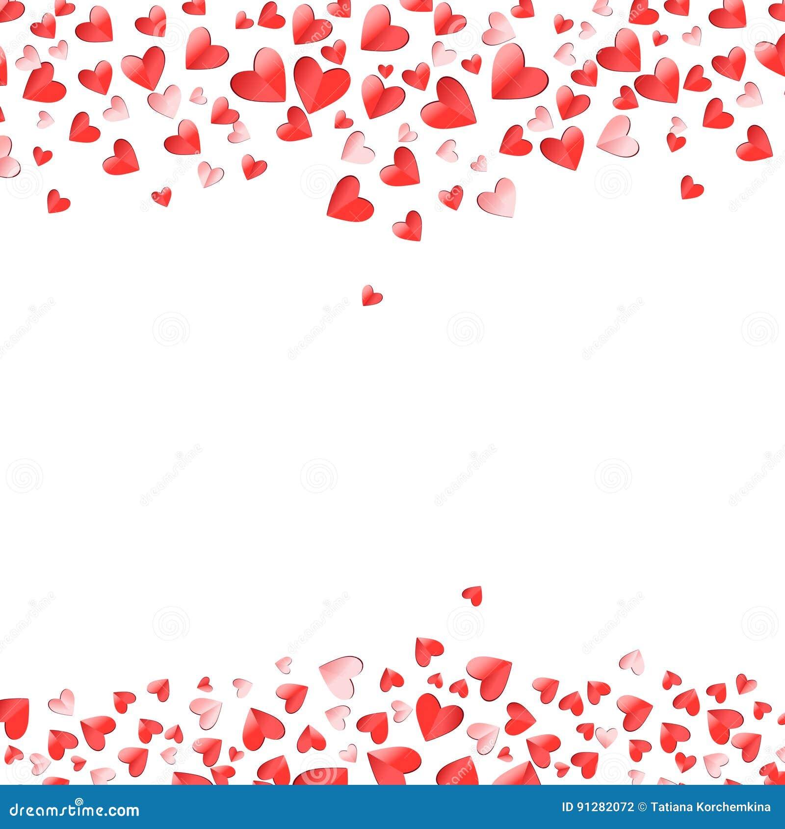 Hjärtaformrosa färger och röd vektorvalentindag