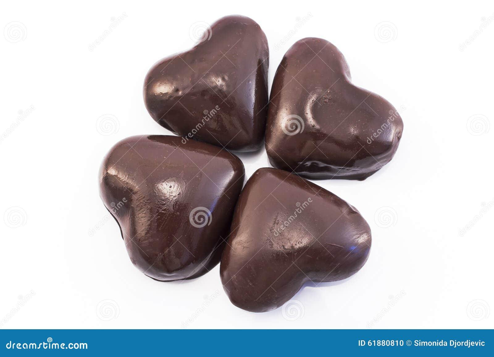 Hjärtapepparkakakakor glasade choklad