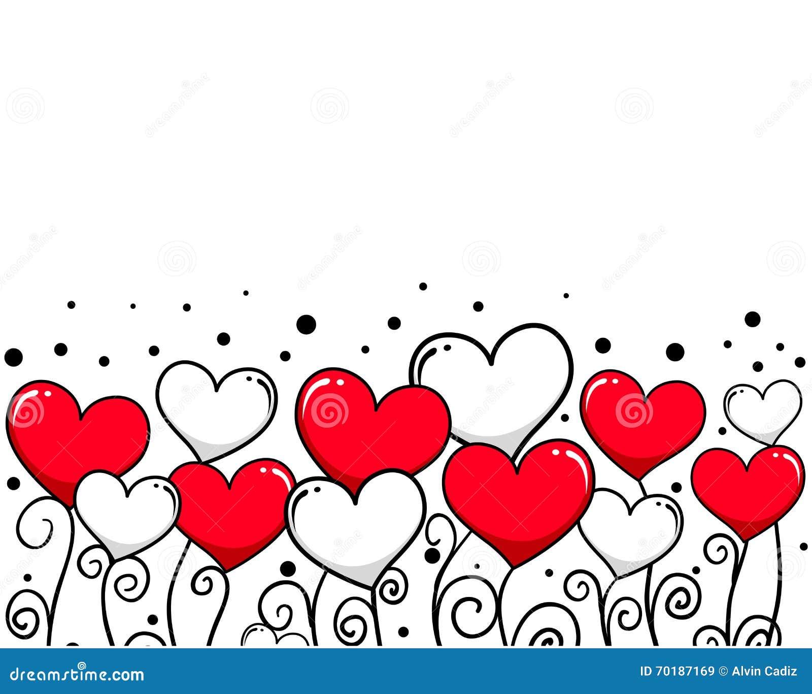 Hjärtavinrankabakgrund för valentindag