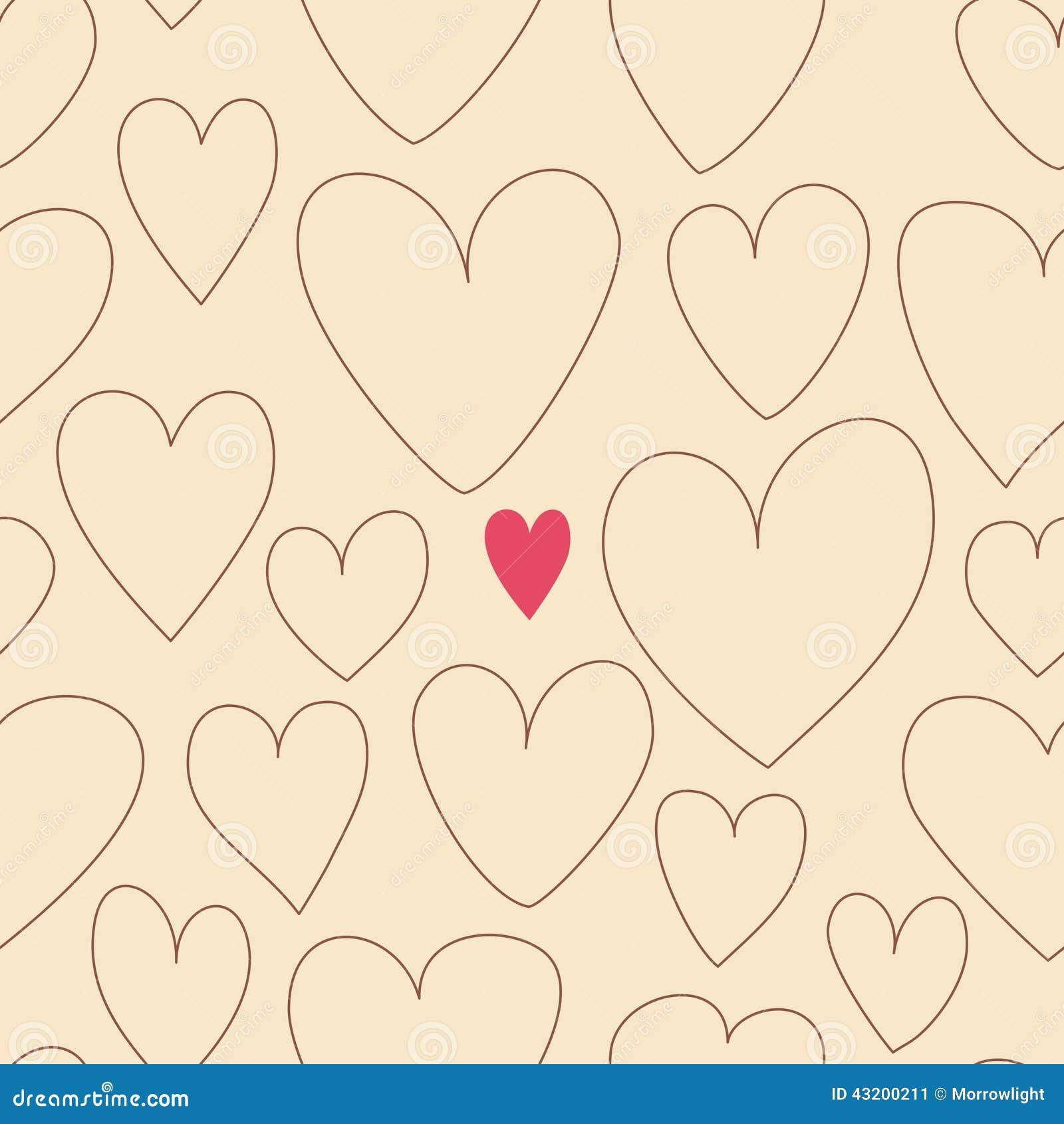 Download Hjärtor mönsan seamless vektor illustrationer. Illustration av pink - 43200211