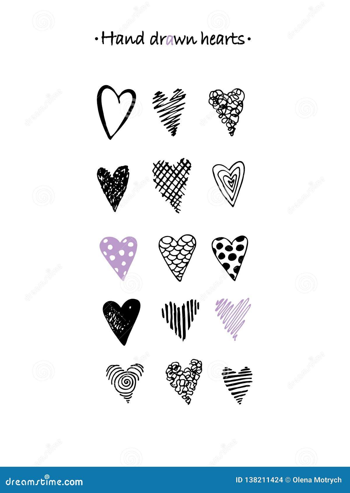 Hjärtor räcker den utdragna uppsättningen Härliga beståndsdelar för din design