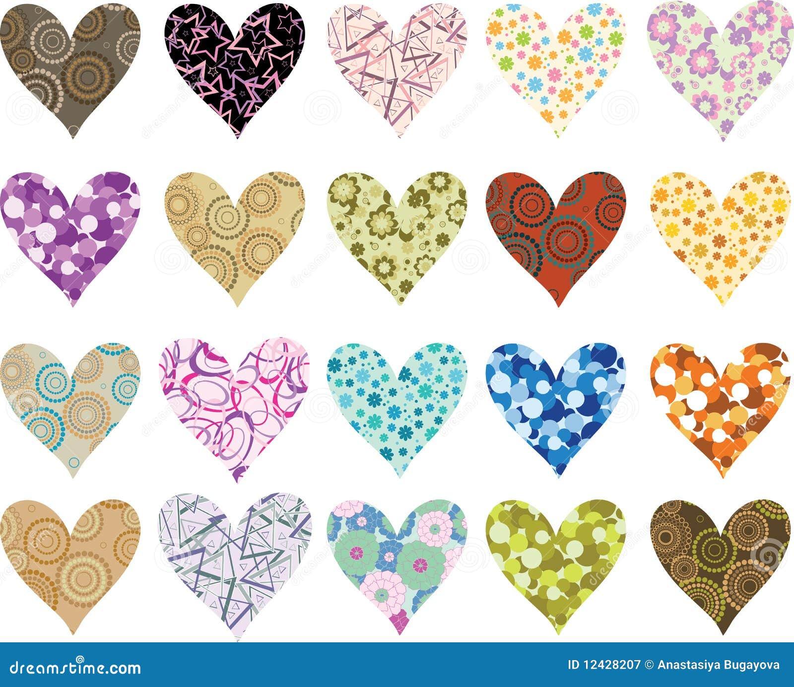 Hjärtor ställde in valentiner