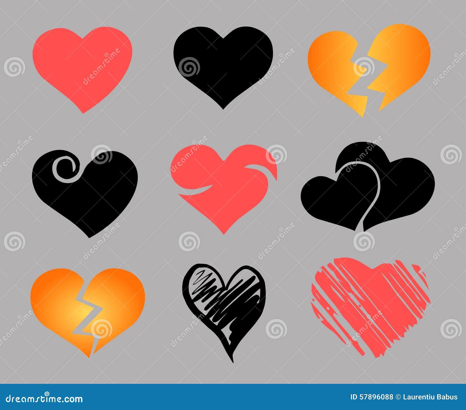 Hjärtor ställde in vektorn