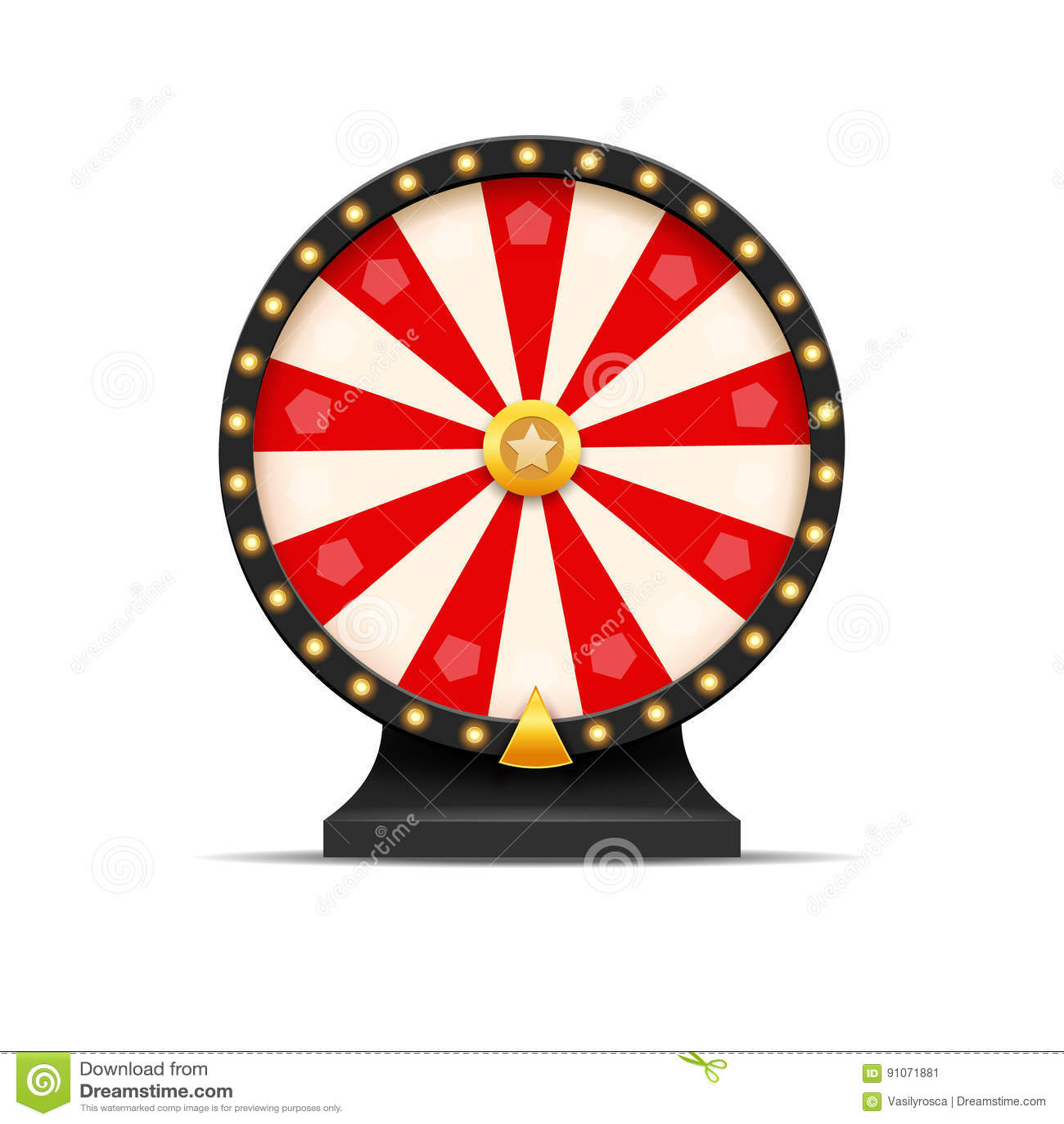 Hjul av illustrationen för förmögenhetlotterilycka Kasinolek av möjligheten Segerförmögenhetroulett Vågspelmöjlighetsfritid