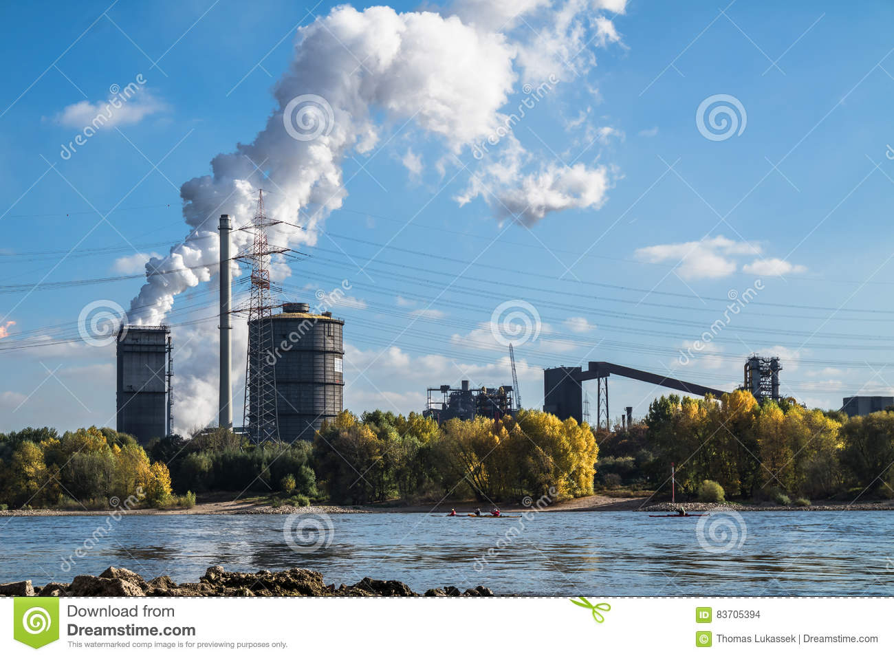 HKM Producing Steel Close To The River Rhine Stock Photo