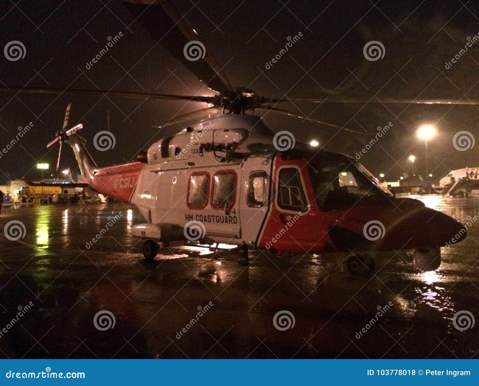HM Coastguard Agusta Westland Helicopter - AW139