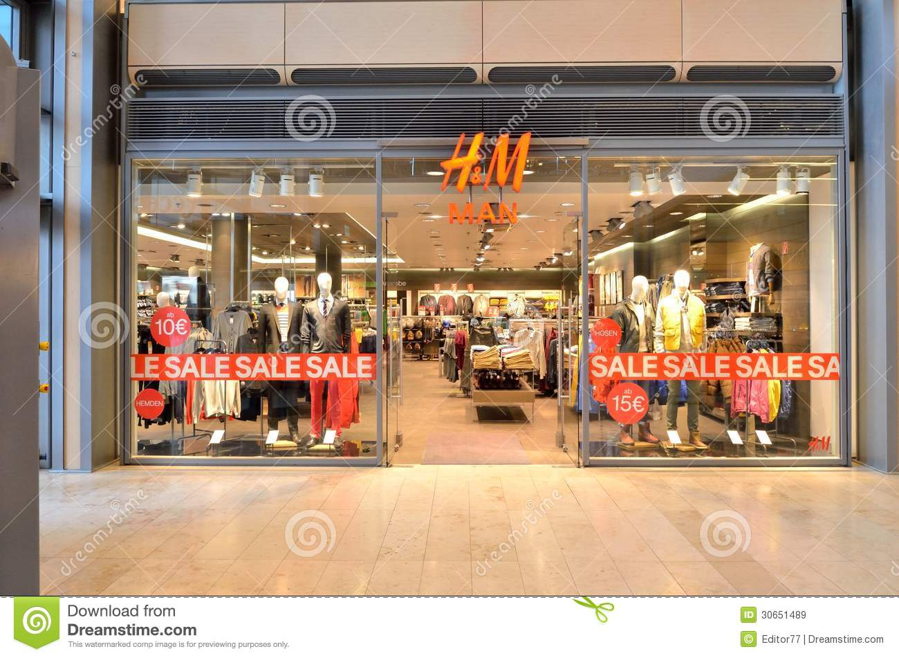 clothing store hm editorial stock image image of colors