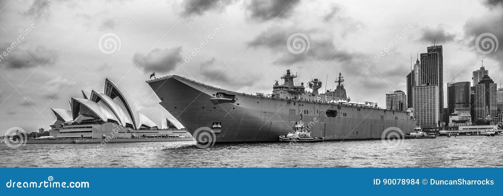 HMAS Canberra, Sydney Cove, Australië Dag 2017