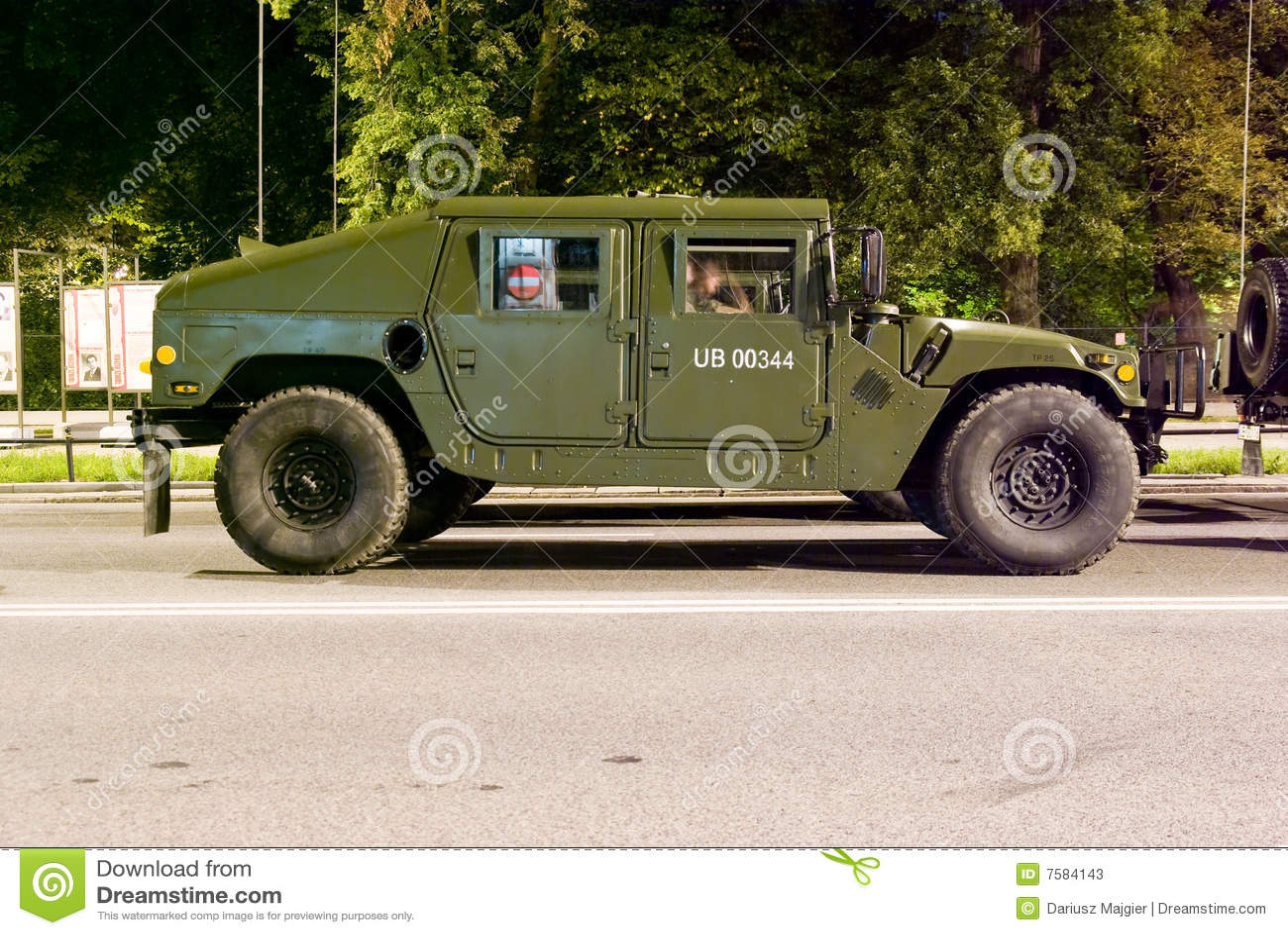 Police Humvee