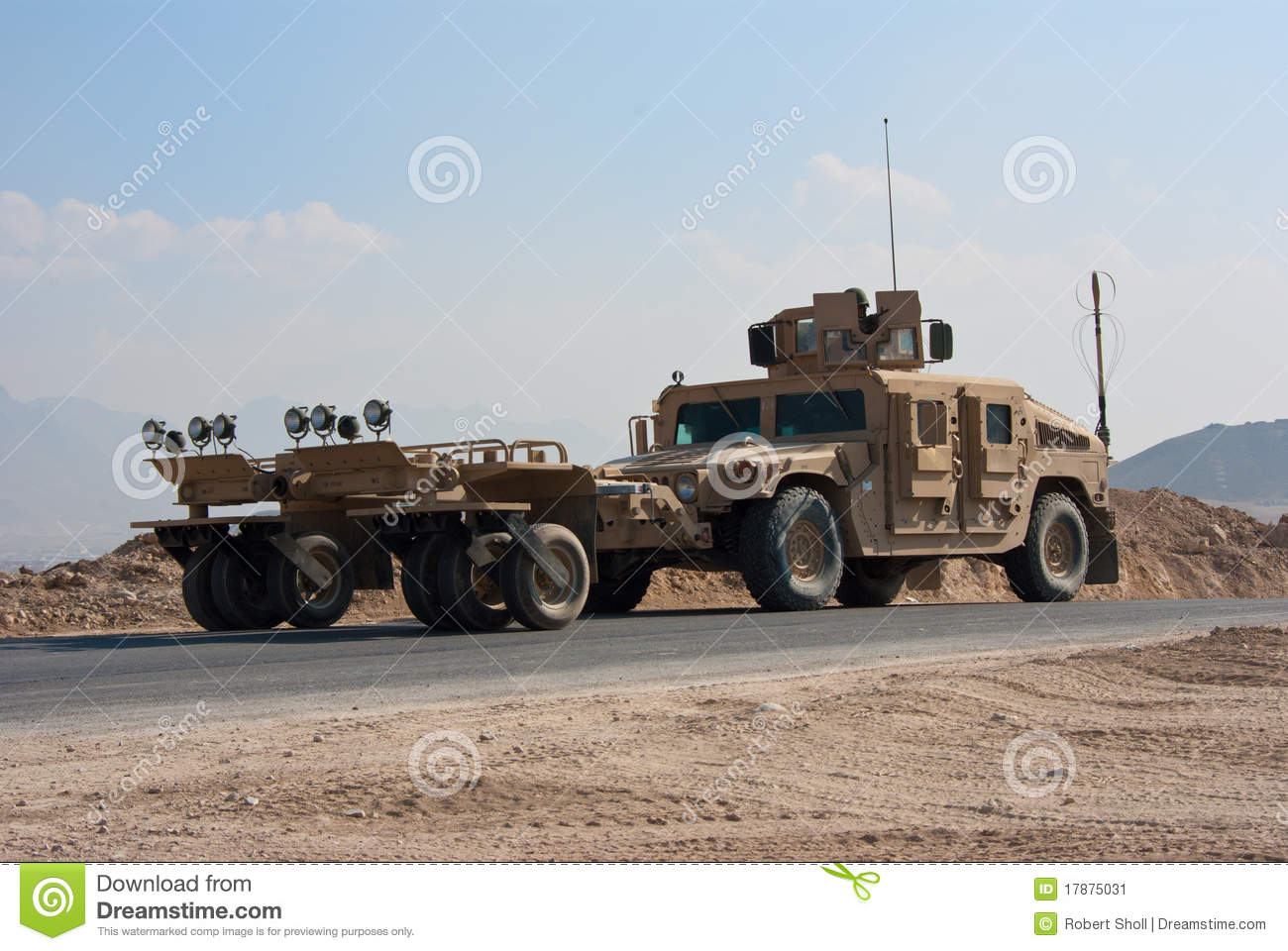 Hmmwv Mine Roller Editorial Photo Image Of Operation