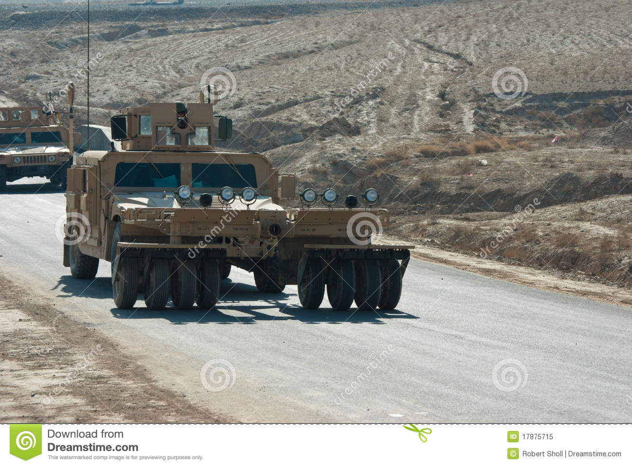 HMMWV Mine Roller stock image  Image of nato, controlled