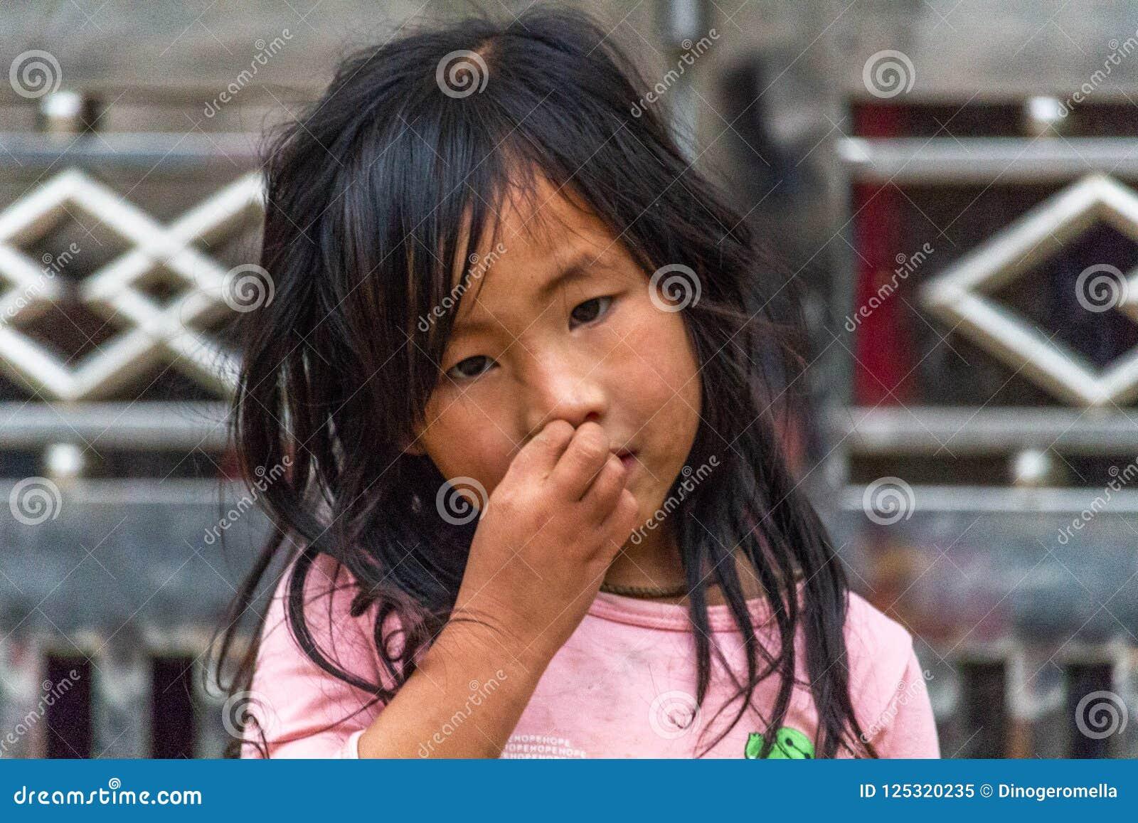 Hmong etnhic mniejszościowa dziewczyna Wietnam