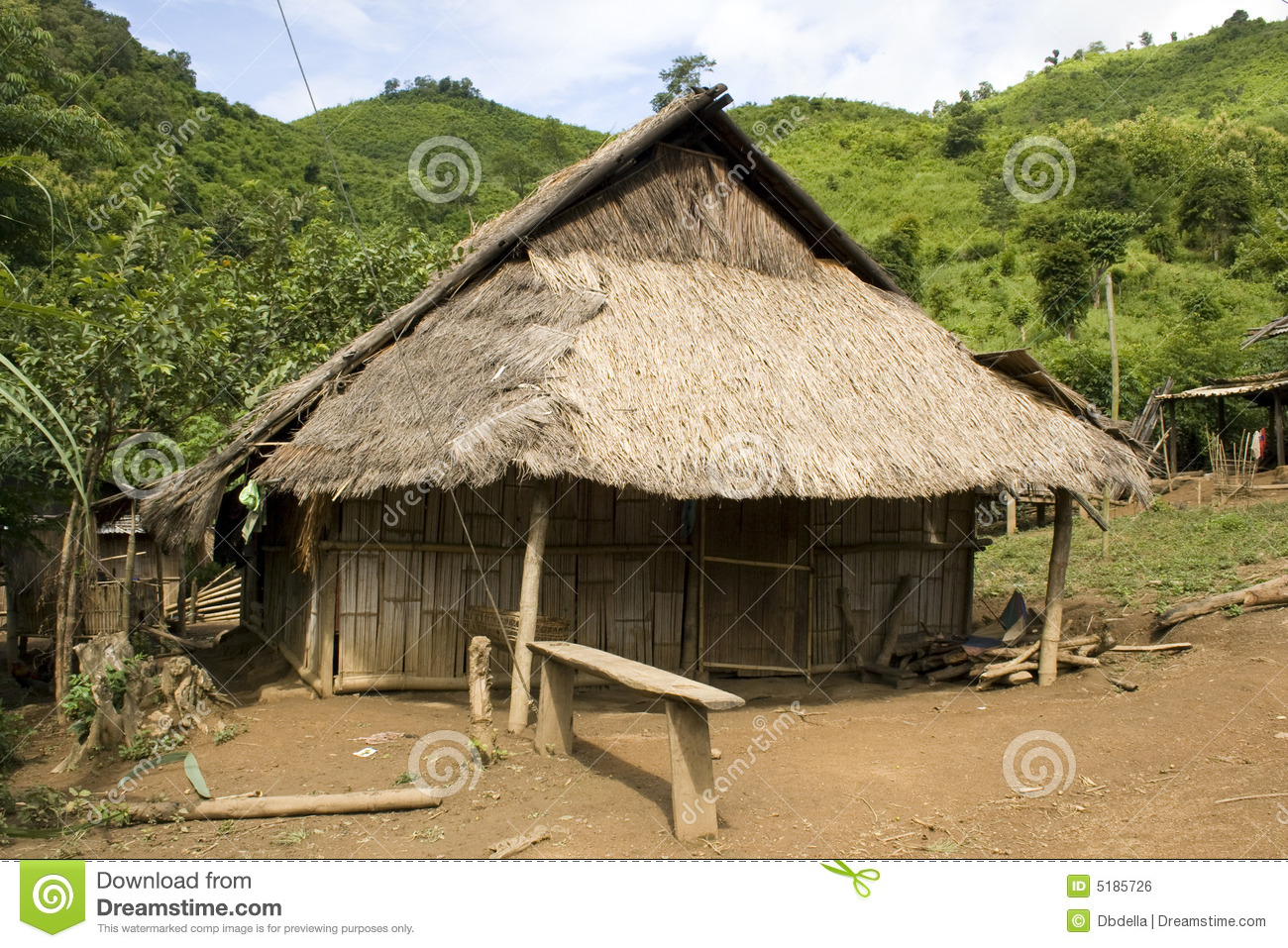 A Hmong hill tribe village in northern Laos.