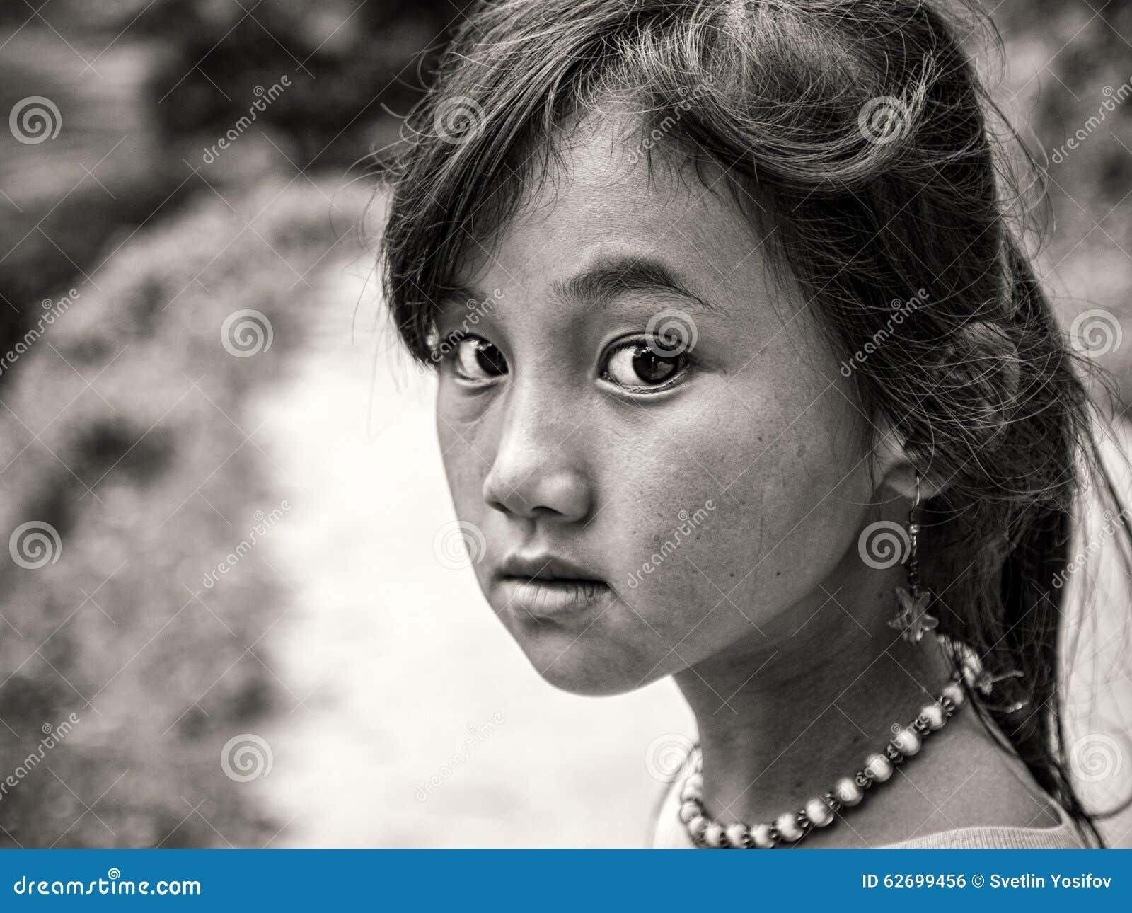 Hmongmeisje van Sapa, Vietnam
