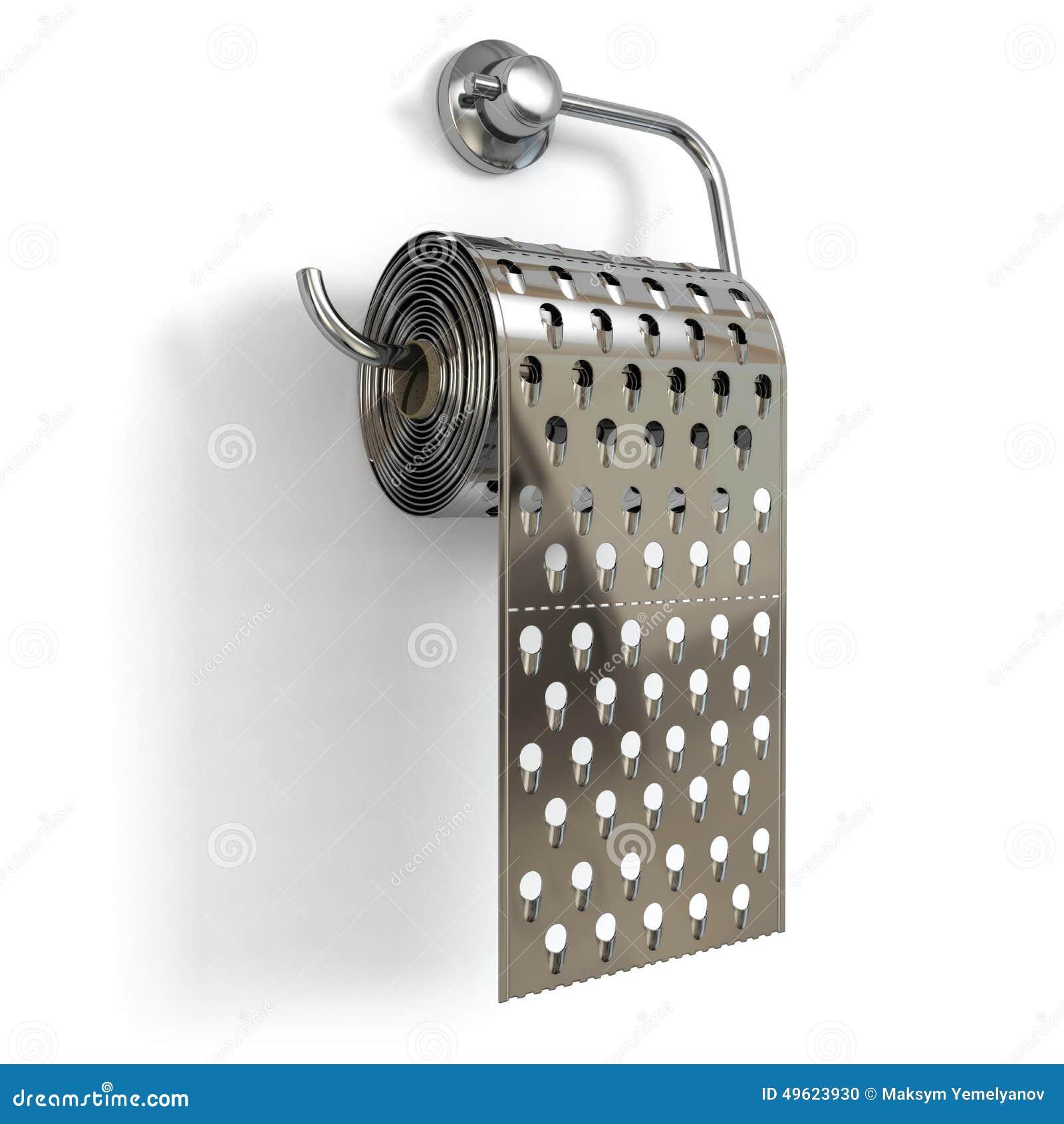 H 228 Morridenkonzept Toilettenpapier Als Reibe Stock