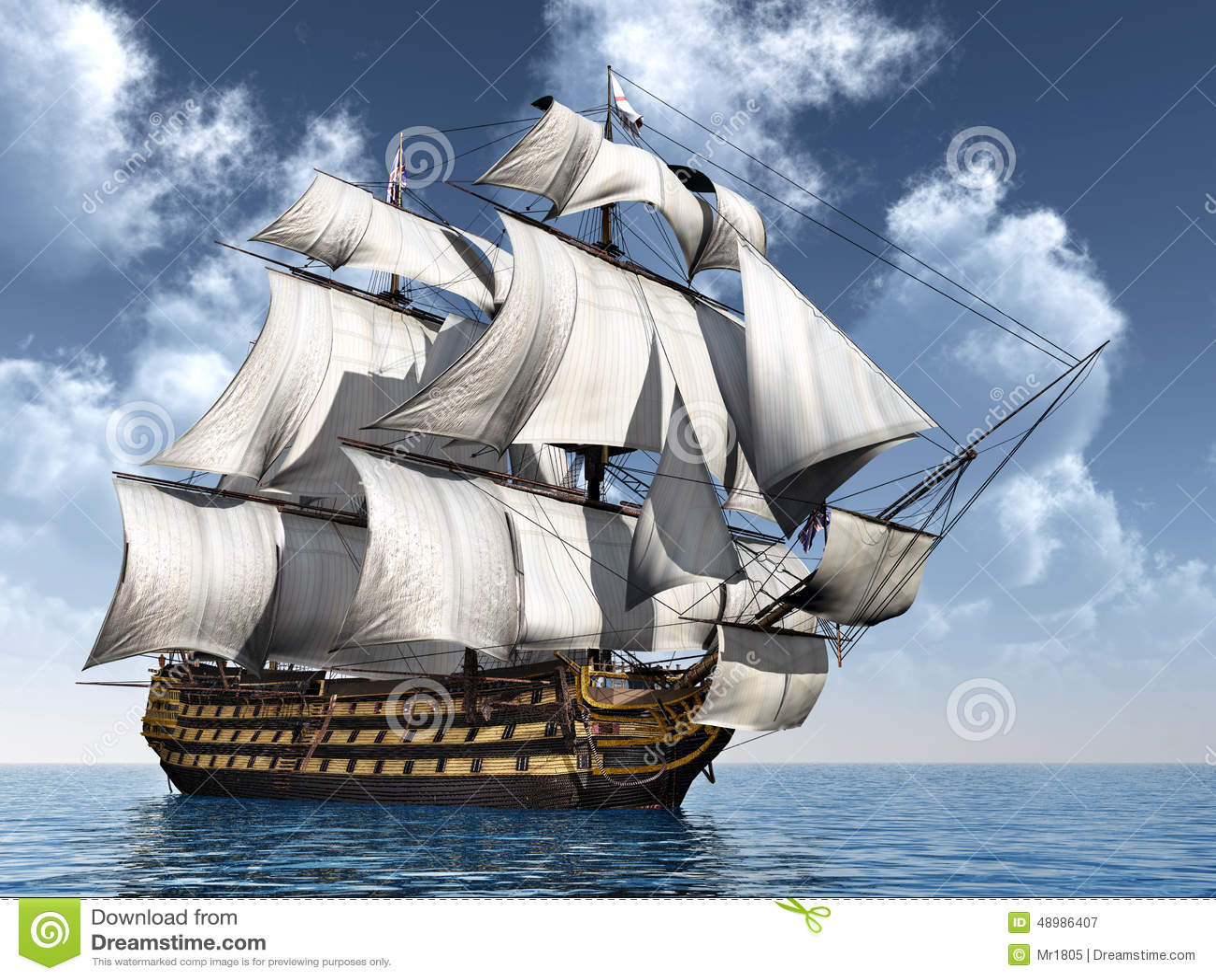 HMS Victory Stock Illustration
