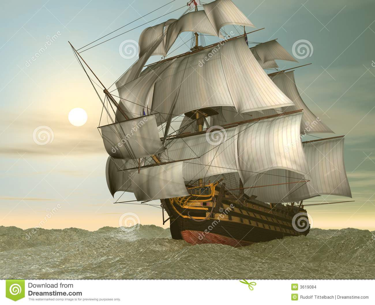 HMS Victory Ship Stock Images - Image: 3619084