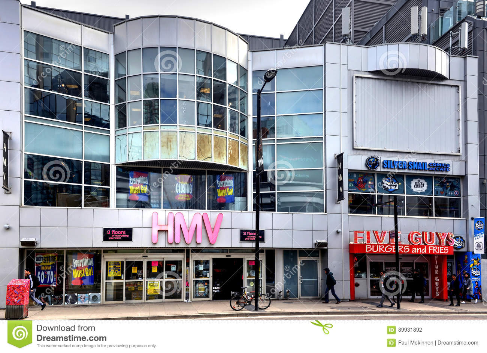 HMV on Yonge Street closing
