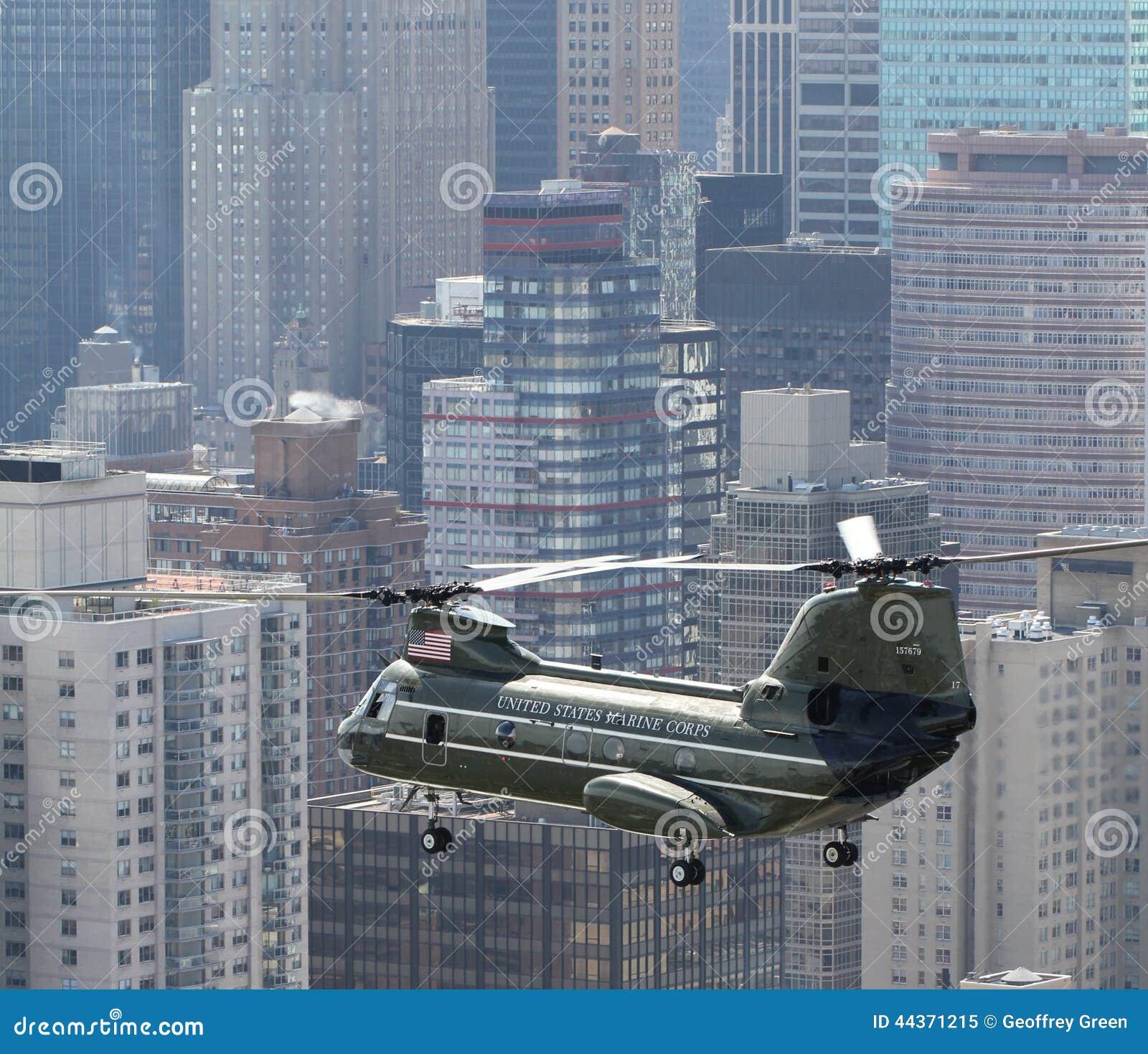 HMX-1 CH-46E NYC