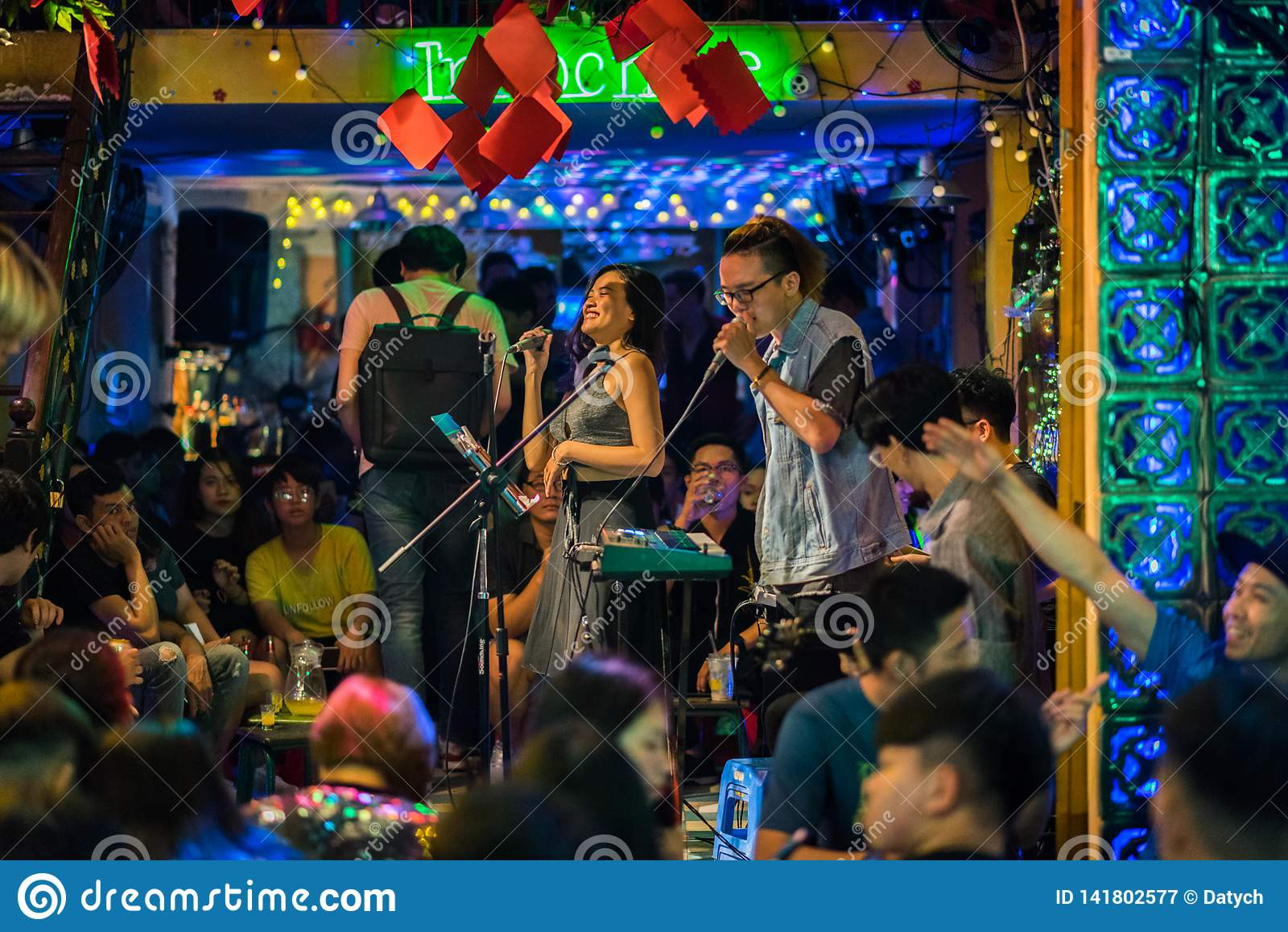 Ho Chi Minh City Saigon Vietnam Nightlife In Bui Vien Street Editorial Photography Image Of Editorial Interior 141802577