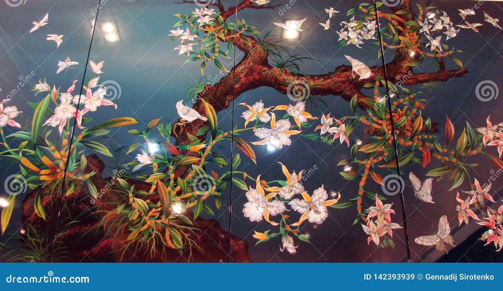 Ho Chi Minh City Vietnam Landschaften der Stadt, religiöse Tempel, Illustrationen der vietnamesischen Kunst
