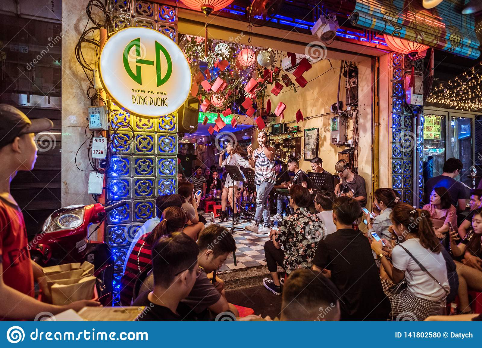 Ho Chi Minh City Vietnam Nightlife In Bui Vien Street Editorial Image Image Of Duong Life 141802580