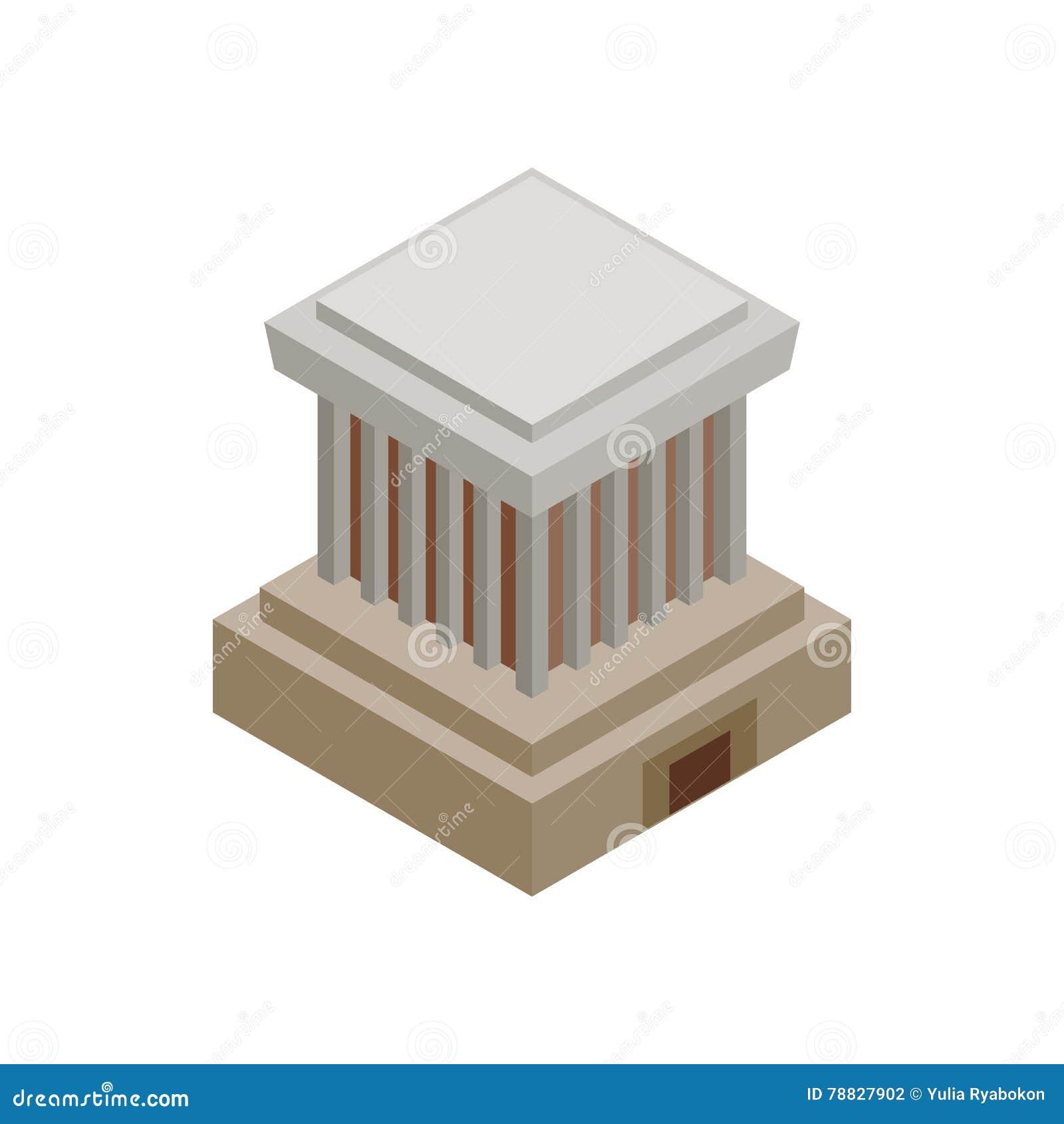 Ho Chi Minh Mausoleum-pictogram, isometrische 3d stijl
