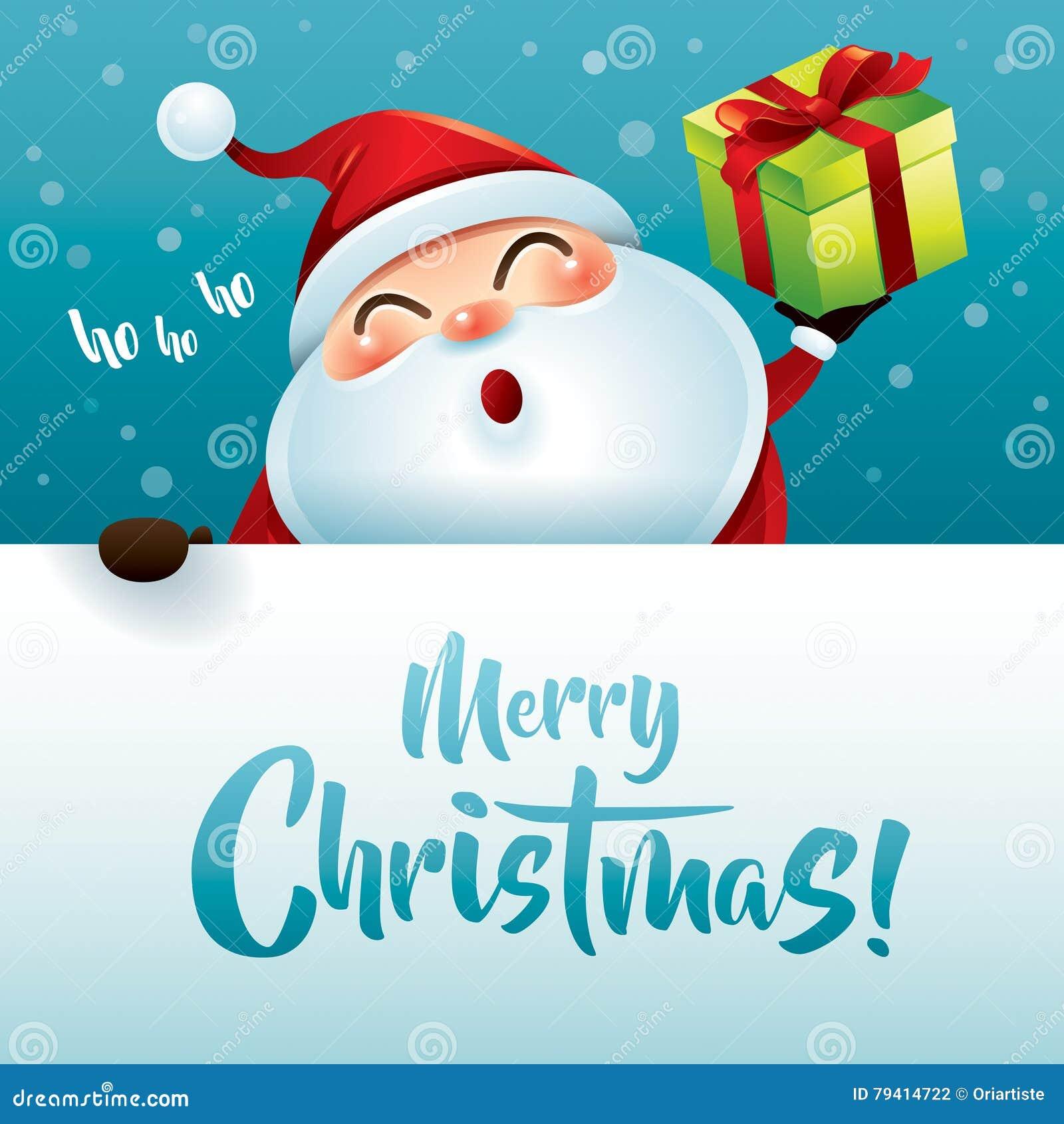 Ho Ho Ho Frohe Weihnachten.Ho Ho Ho Frohe Weihnachten Vektor Abbildung Illustration