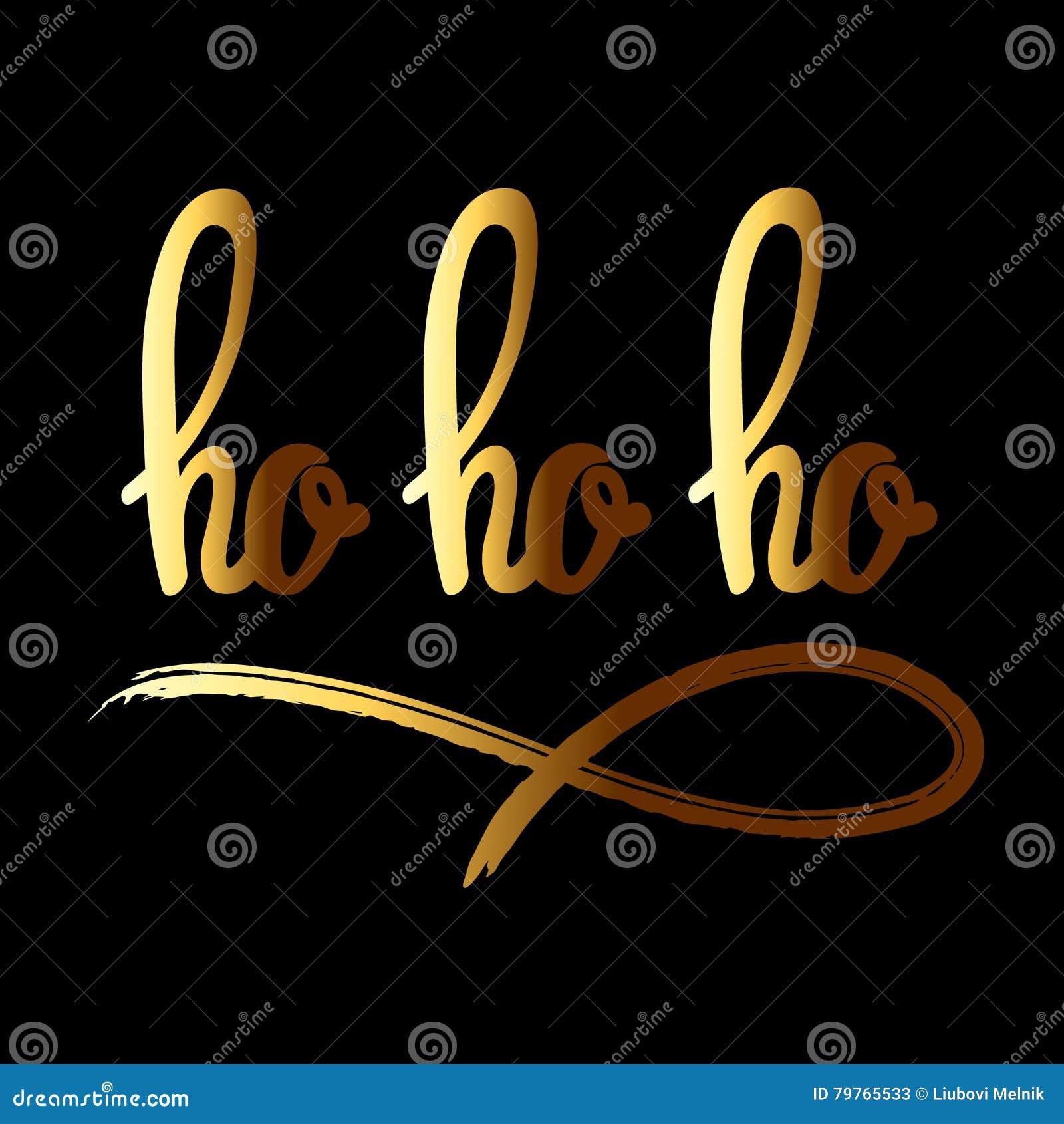 Ho ho ho hand dragen bokstäver