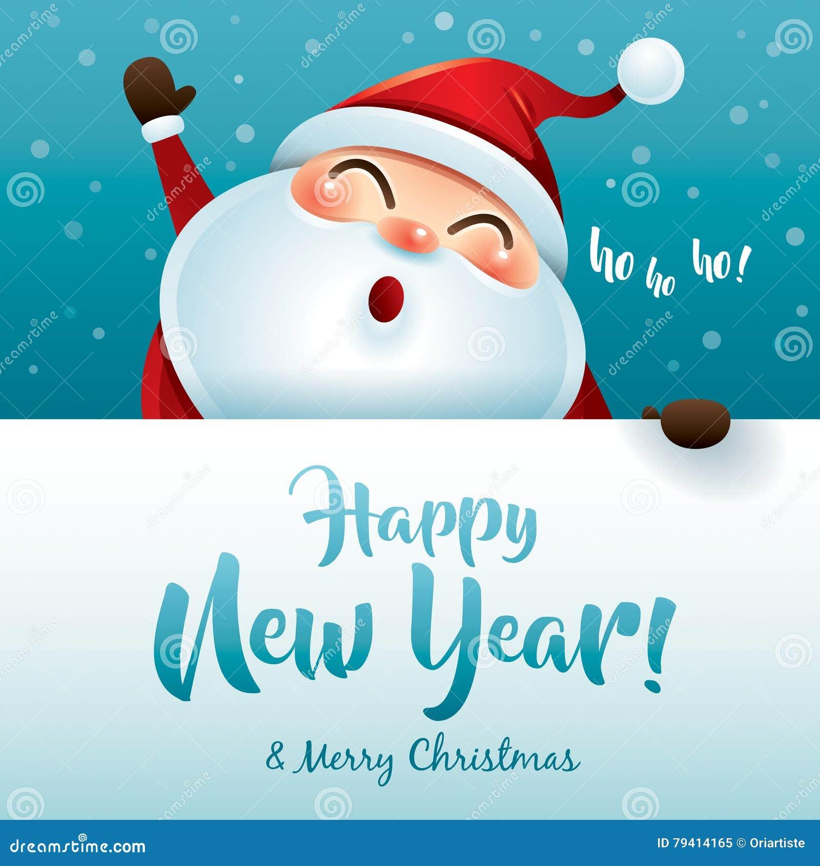 HO HO HO! Happy New Year And Merry Christmas! Stock Vector ...