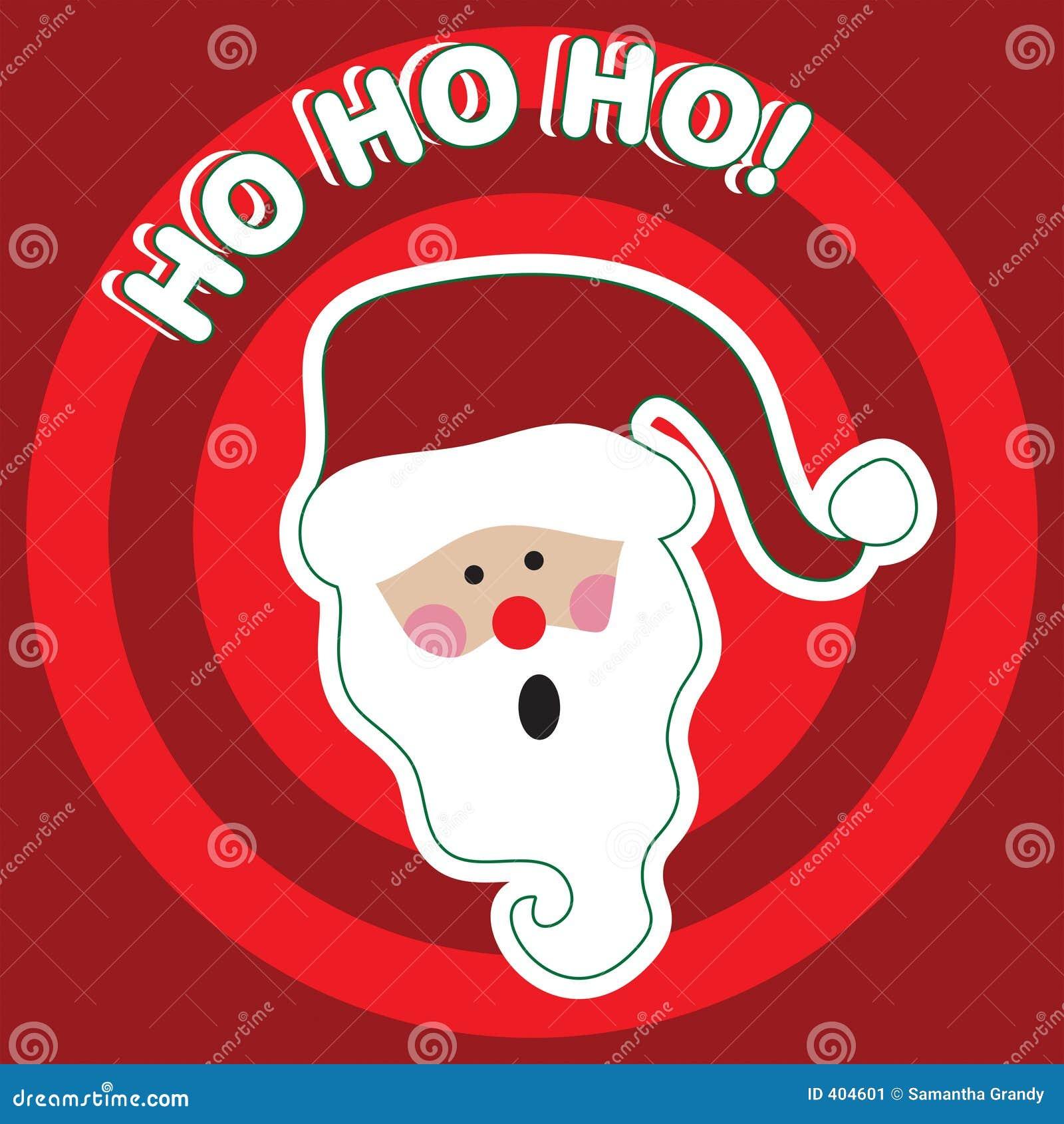 Babbo Natale Ho Ho Ho.Ho Ho Ho Il Babbo Natale Illustrazione Vettoriale Illustrazione