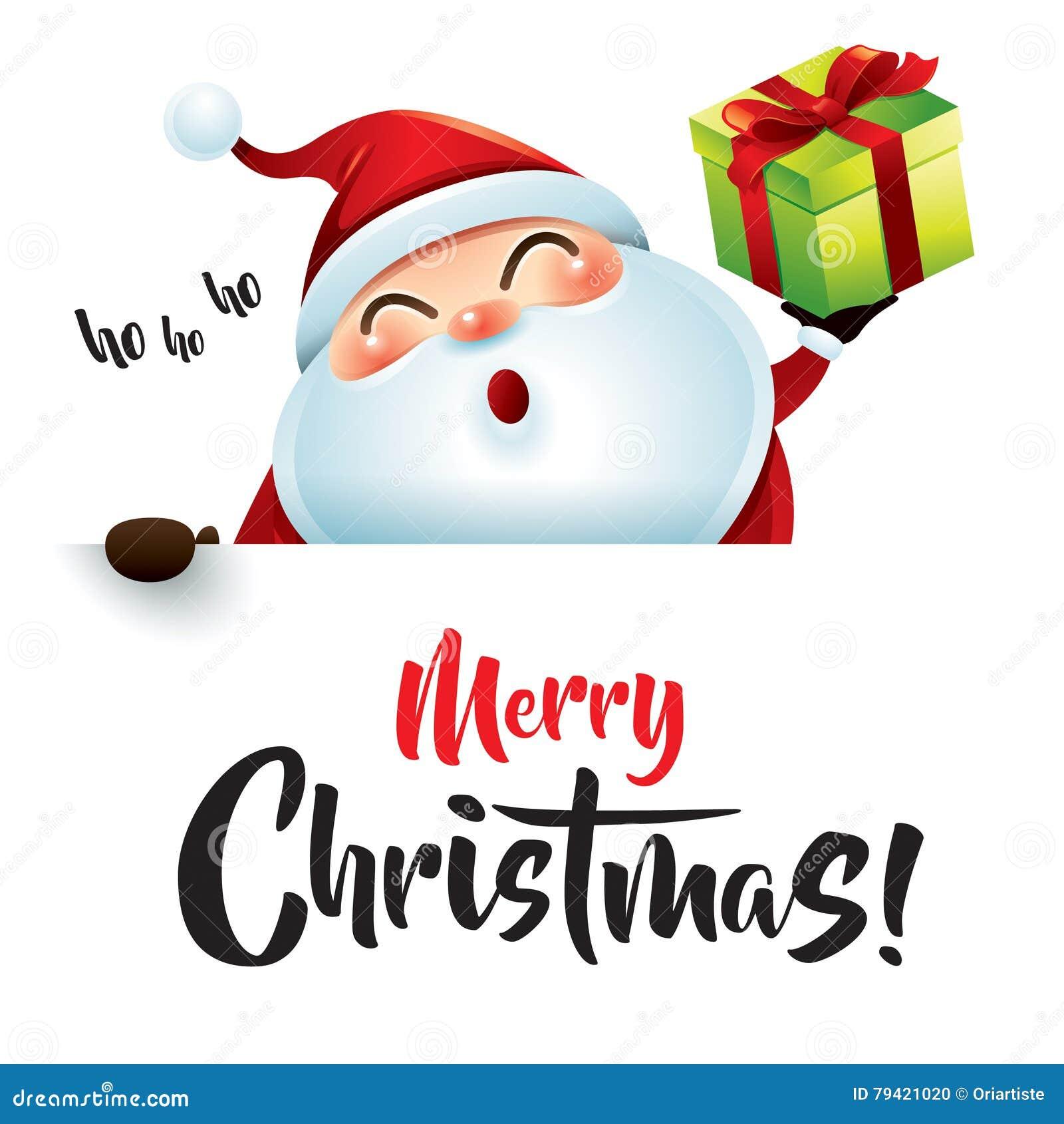 download ho ho ho merry christmas stock vector illustration of smiling 79421020 - Hohoho Merry Christmas
