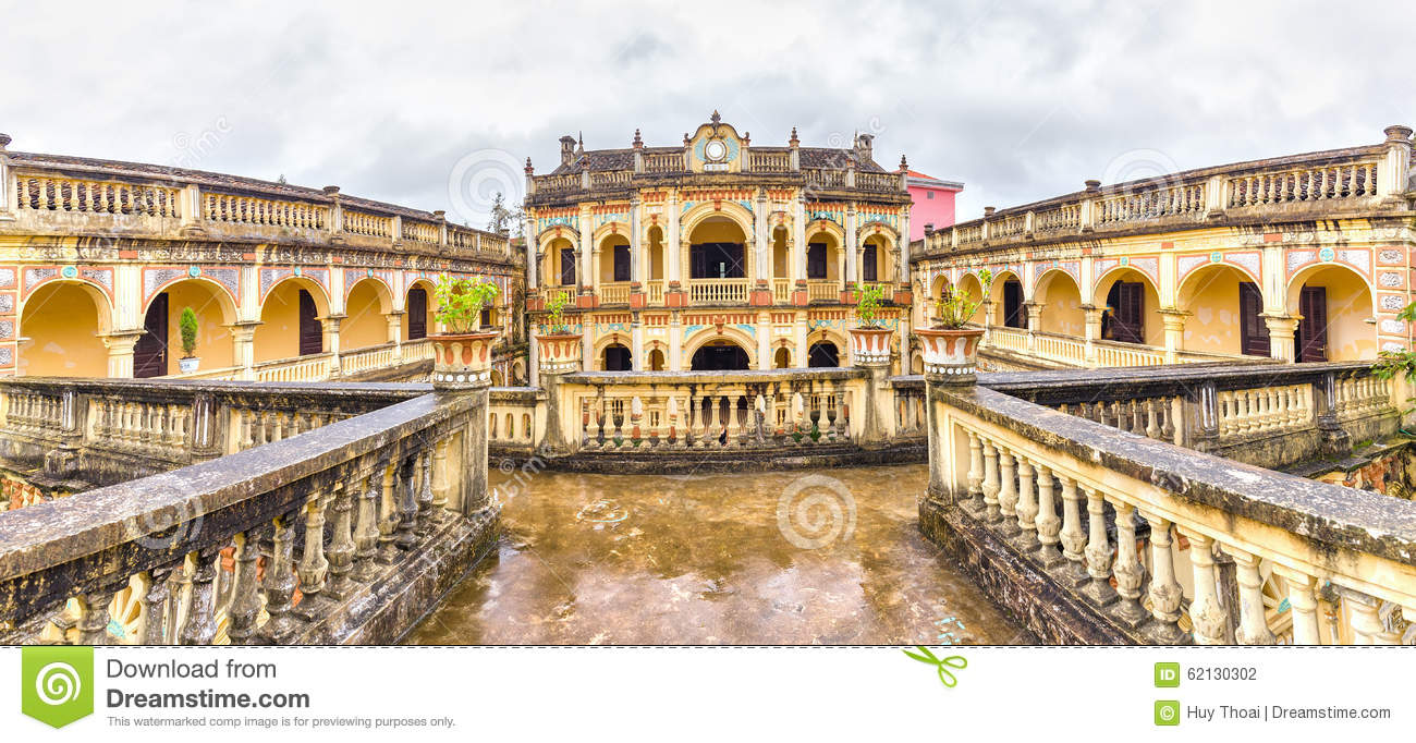 Download Hoang A Tuong Royal Architecture Imperial, Bac Ha, Lao Cai, Vietnam Stock Photo - Image of column, curve: 62130302